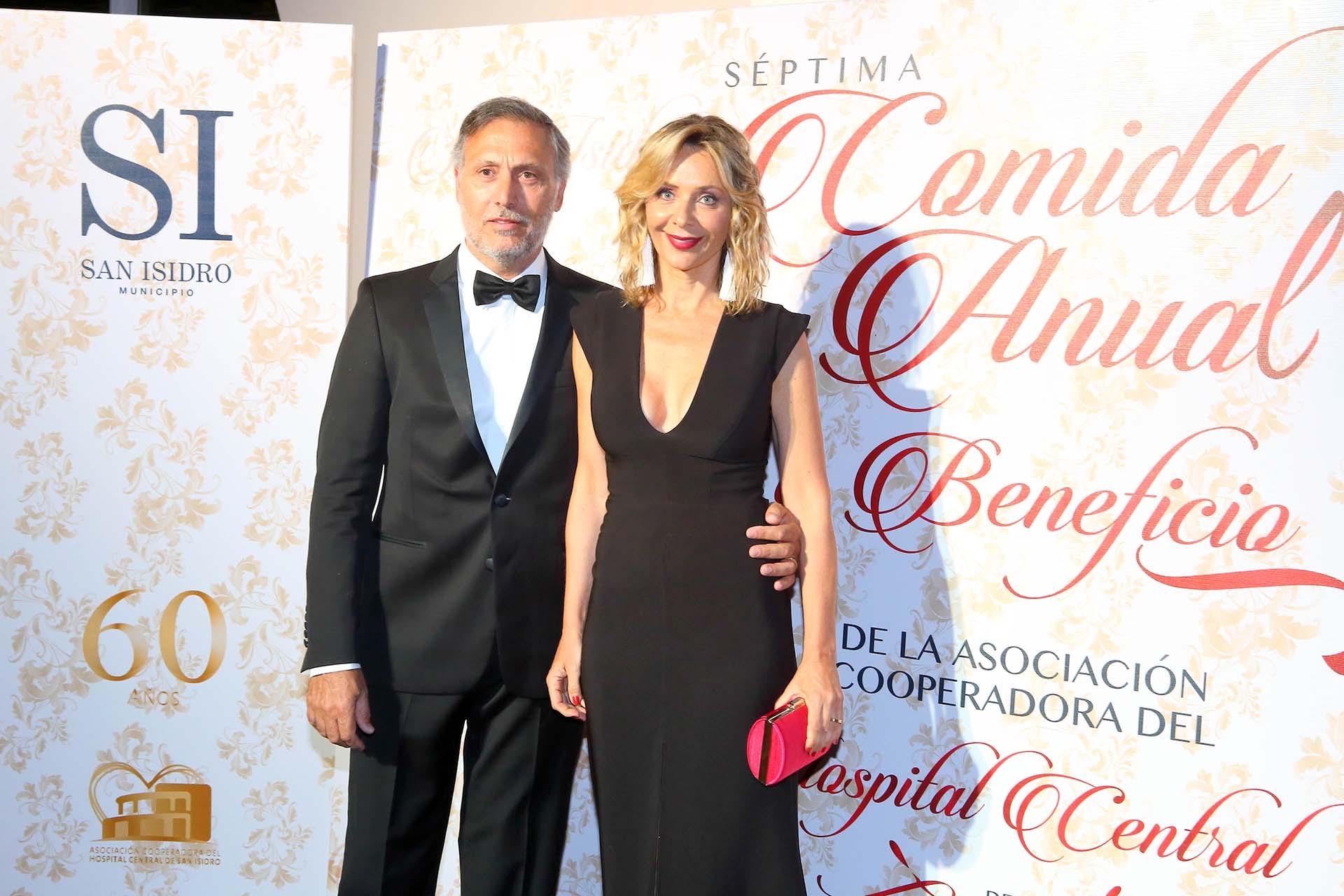 Evelyn Von Brocke junto a su marido, Juan Viaggio