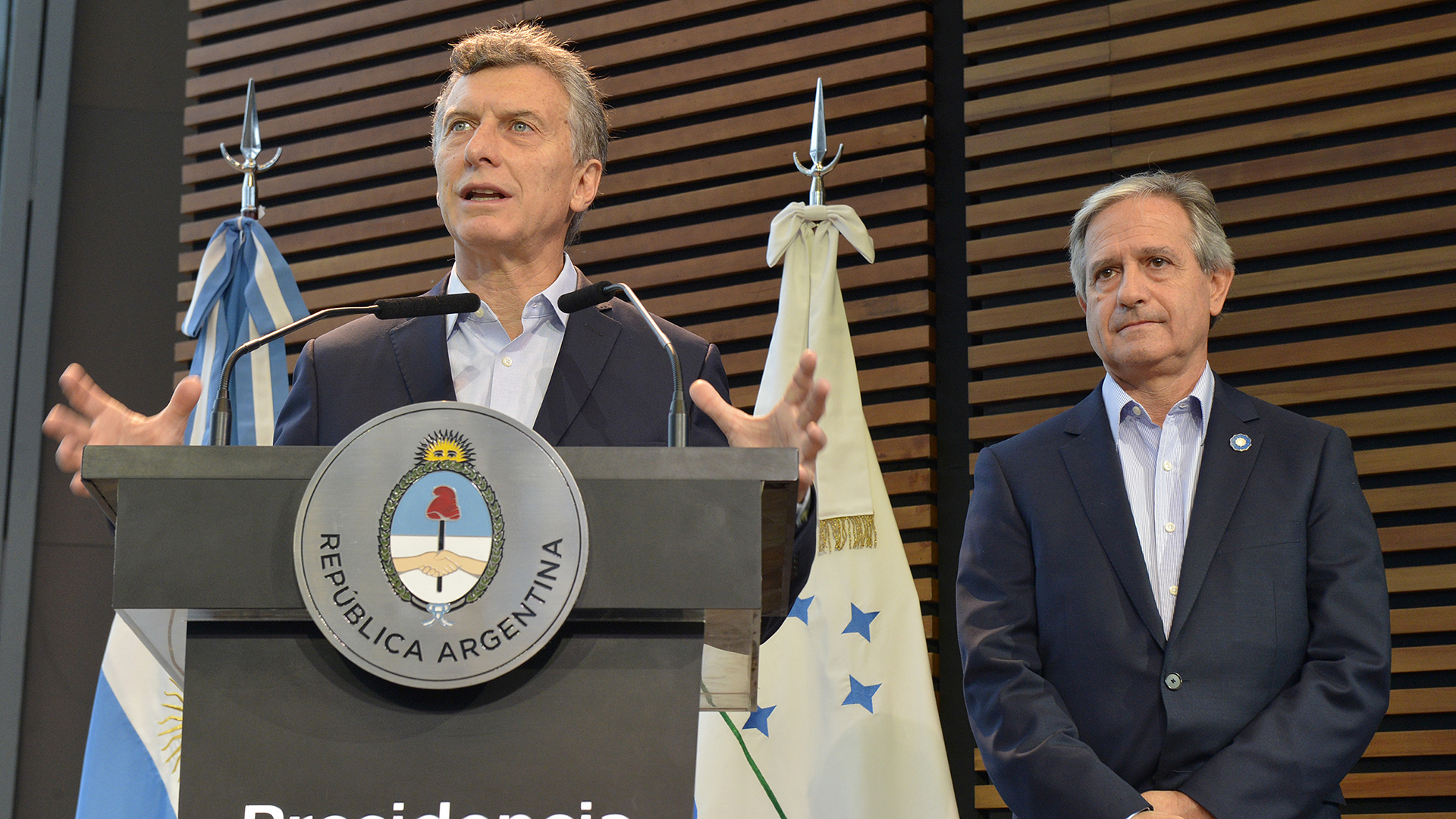 Mauricio Macri junto al ministro de Modernización Andrés Ibarra (NA)