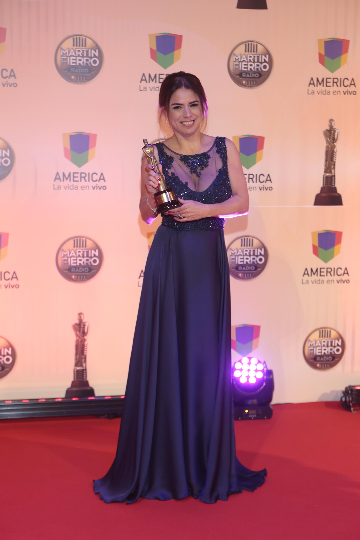 """Marina Calabró, """"Mejor Columnista de Espectáculos"""", por su trabajo en """"Lanata Sin Filtro"""" (Radio Mitre)"""