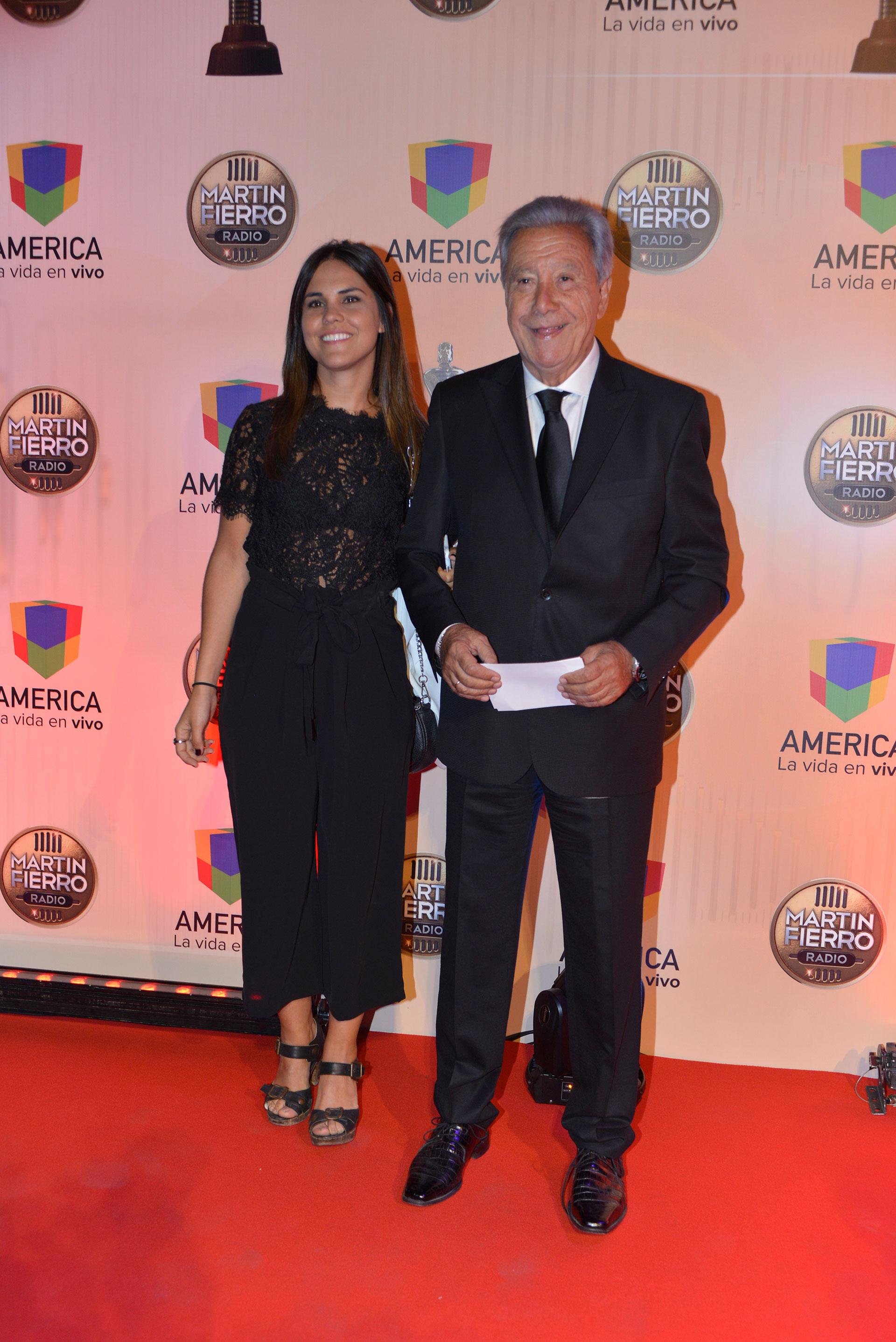 Juan Alberto Mateyko junto a Rosa, su hija.
