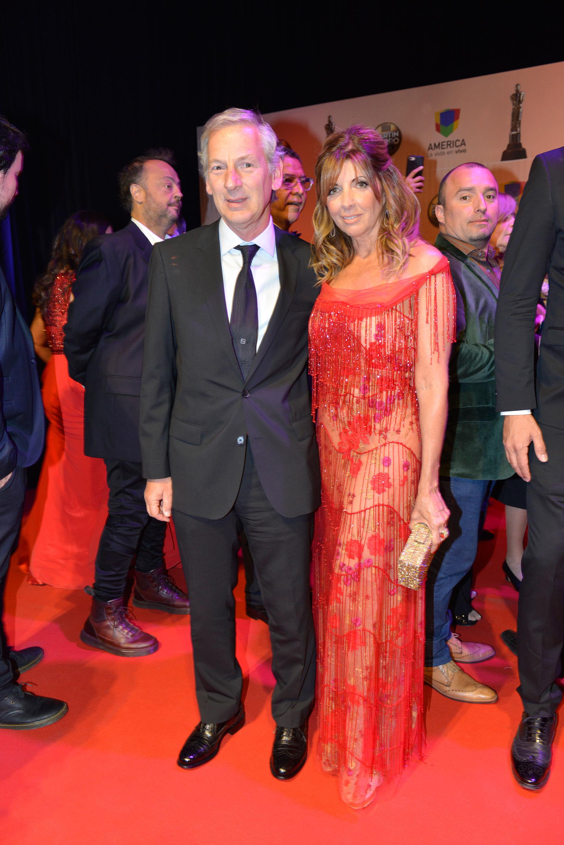 Marcelo Longobardi y su esposa, Laura Palermo.