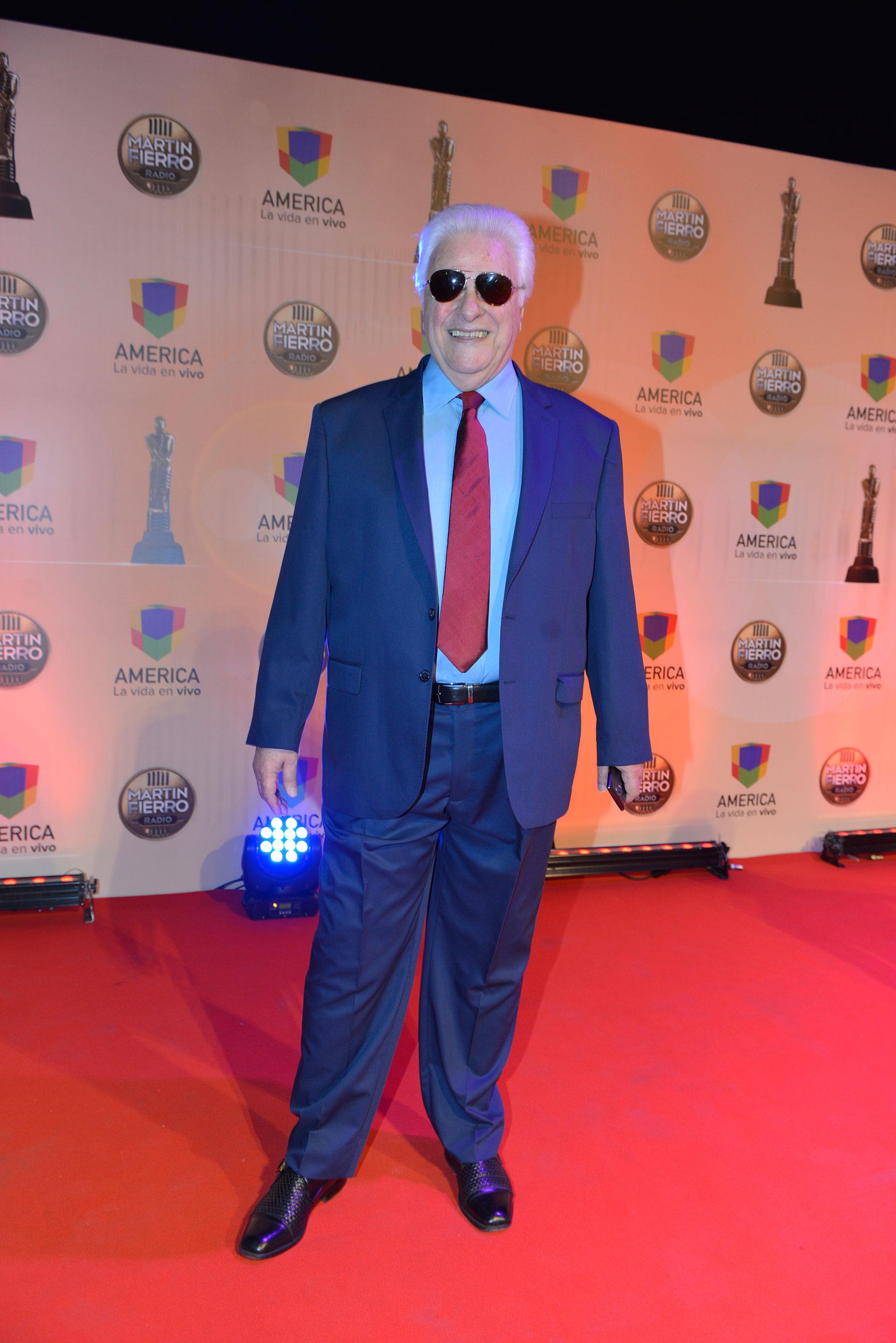 Héctor Larrea fue uno de los homenajeados de la noche.