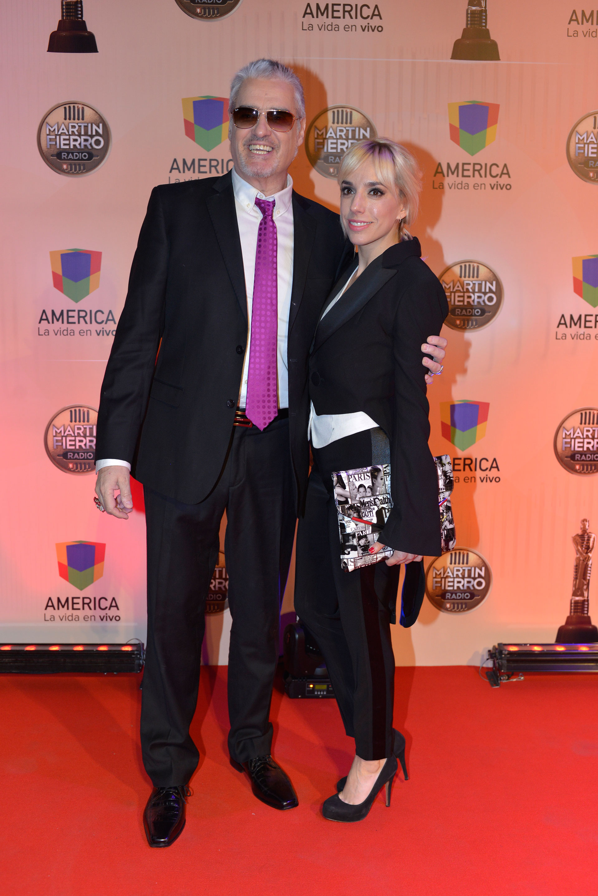 Roberto y Tamara Pettinato. Padre e hija disfrutaron de la noche.