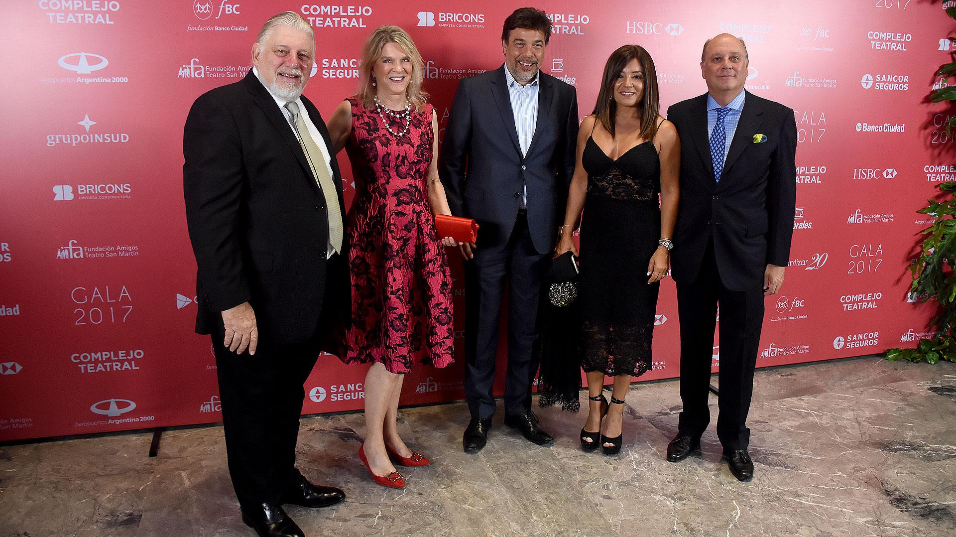 Adrián Werthein, Eva Thesleff de Soldati, Darío Werthein, Cecilia Nobili de Werthein y Martín Cabrales