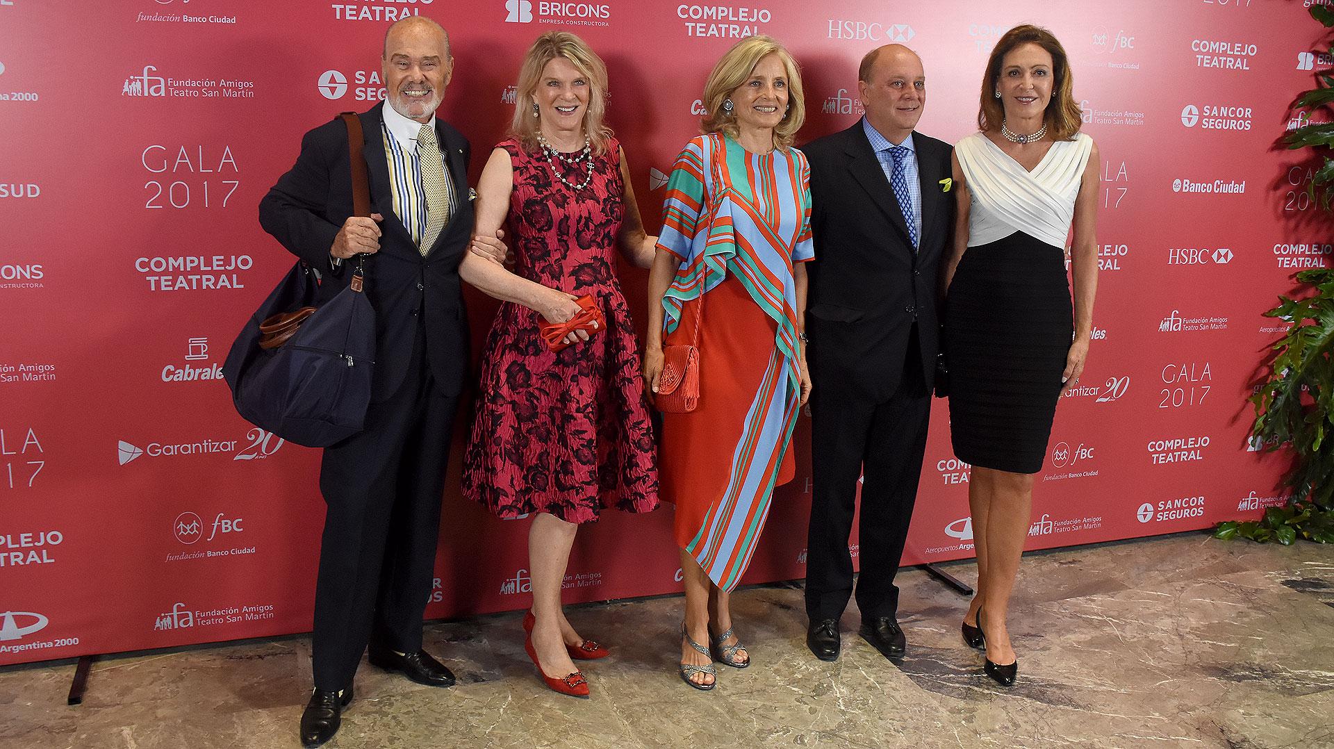 Gino Bogani, Eva Soldati, Cecilia Zuberbuhler, Martín Cabrales y Mariel Llorens de Quintana