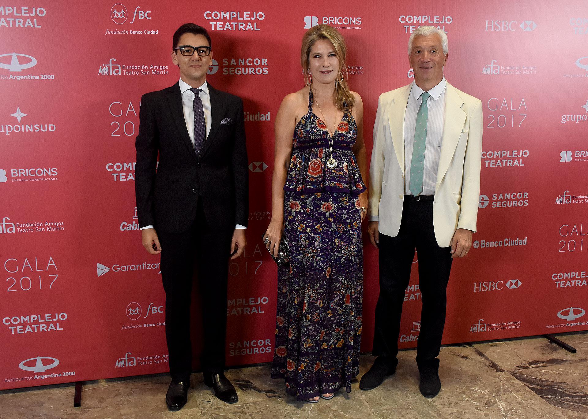 Guillermo Dourée, Ana Rusconi e Ignacio Miguens