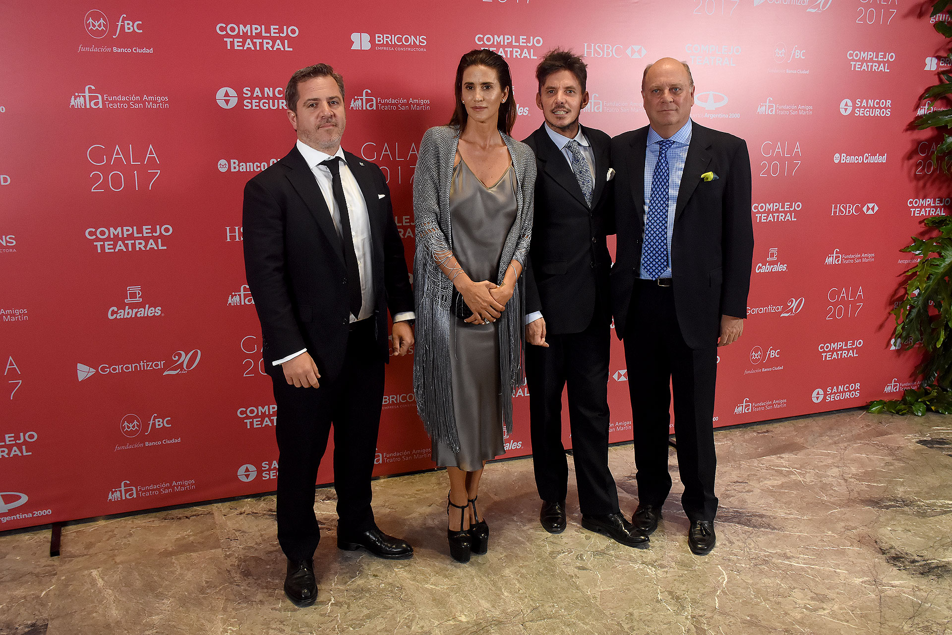 Verde Saenz Valiente, Mercedes Ocampo, Gerard Confalonieri y Martín Cabrales