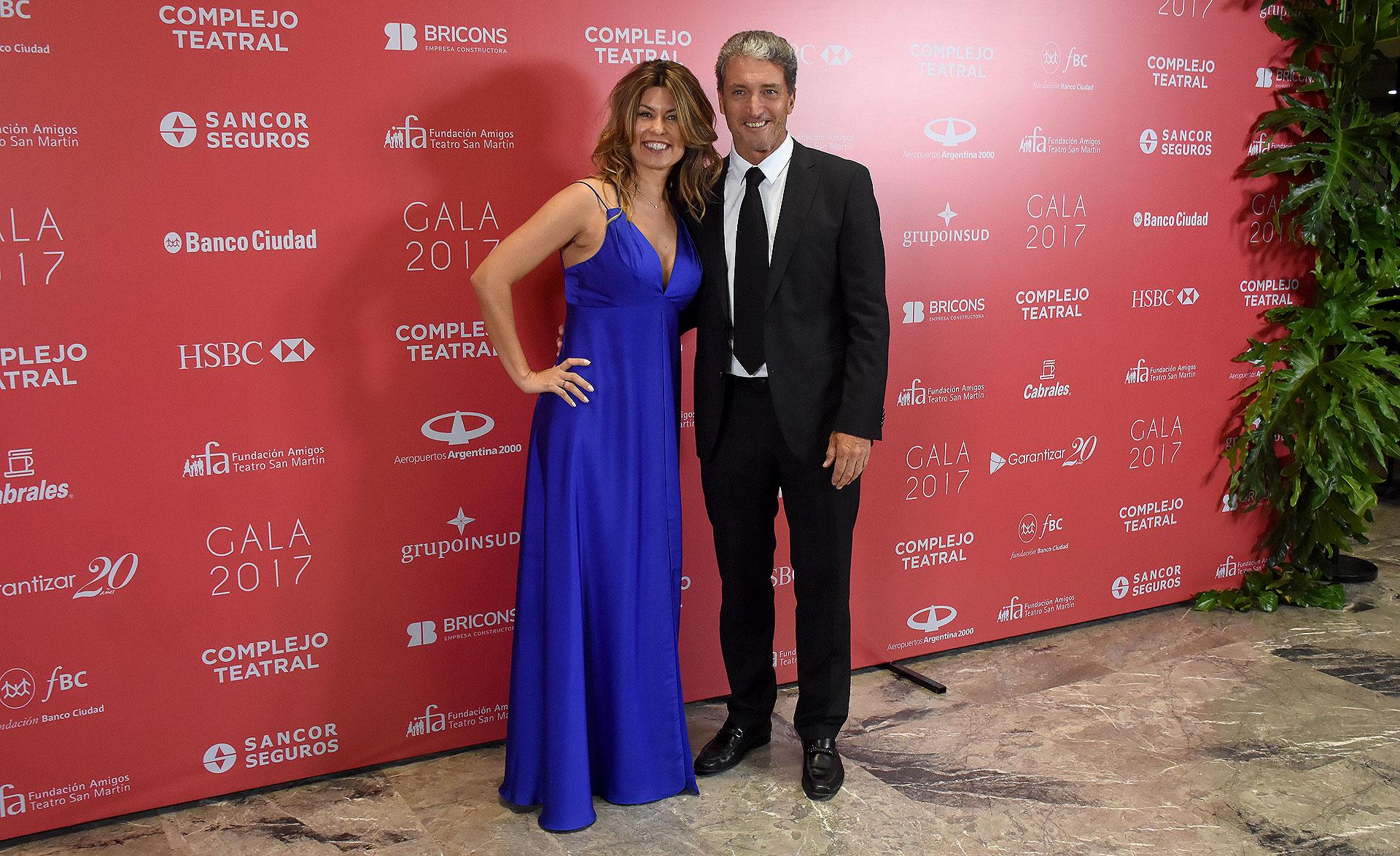 """María Pinto y José """"Pepe"""" Scioli"""