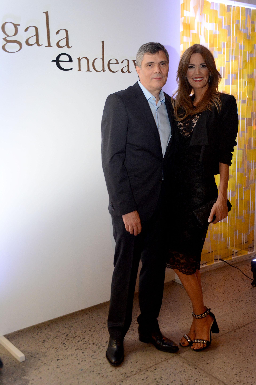El periodista AlejandroBorensztein, junto a su esposa, la conductora y también periodista, Viviana Canosa