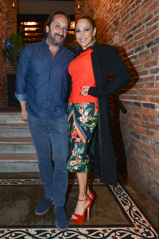 Iliana Calabró y su novio Antonello Bardi. Foto: Fabián Uset/GENTE