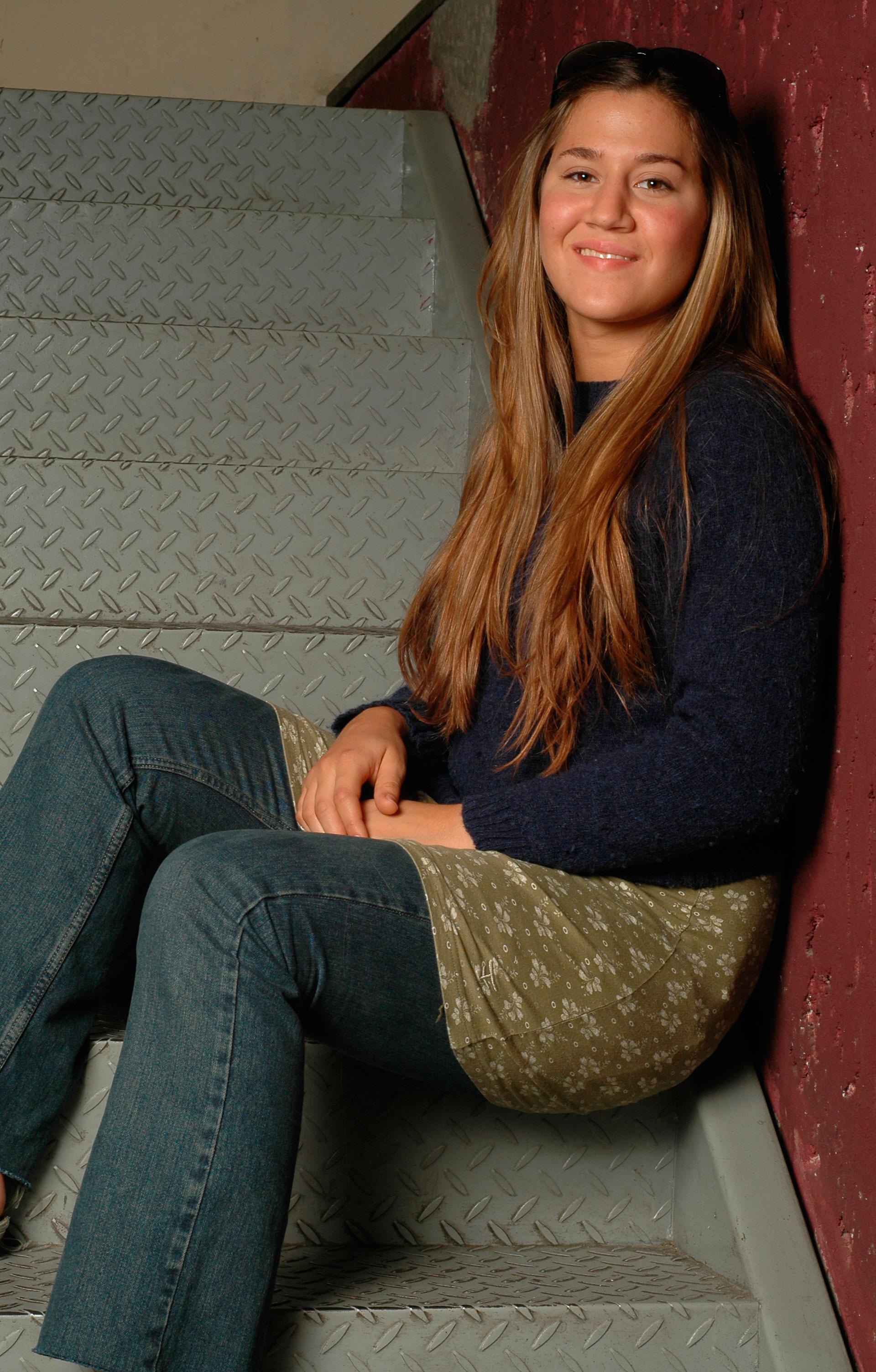 Año 2004, con el pelo mucho más largo y claro. Foto: Archivo Atlántida Televisa