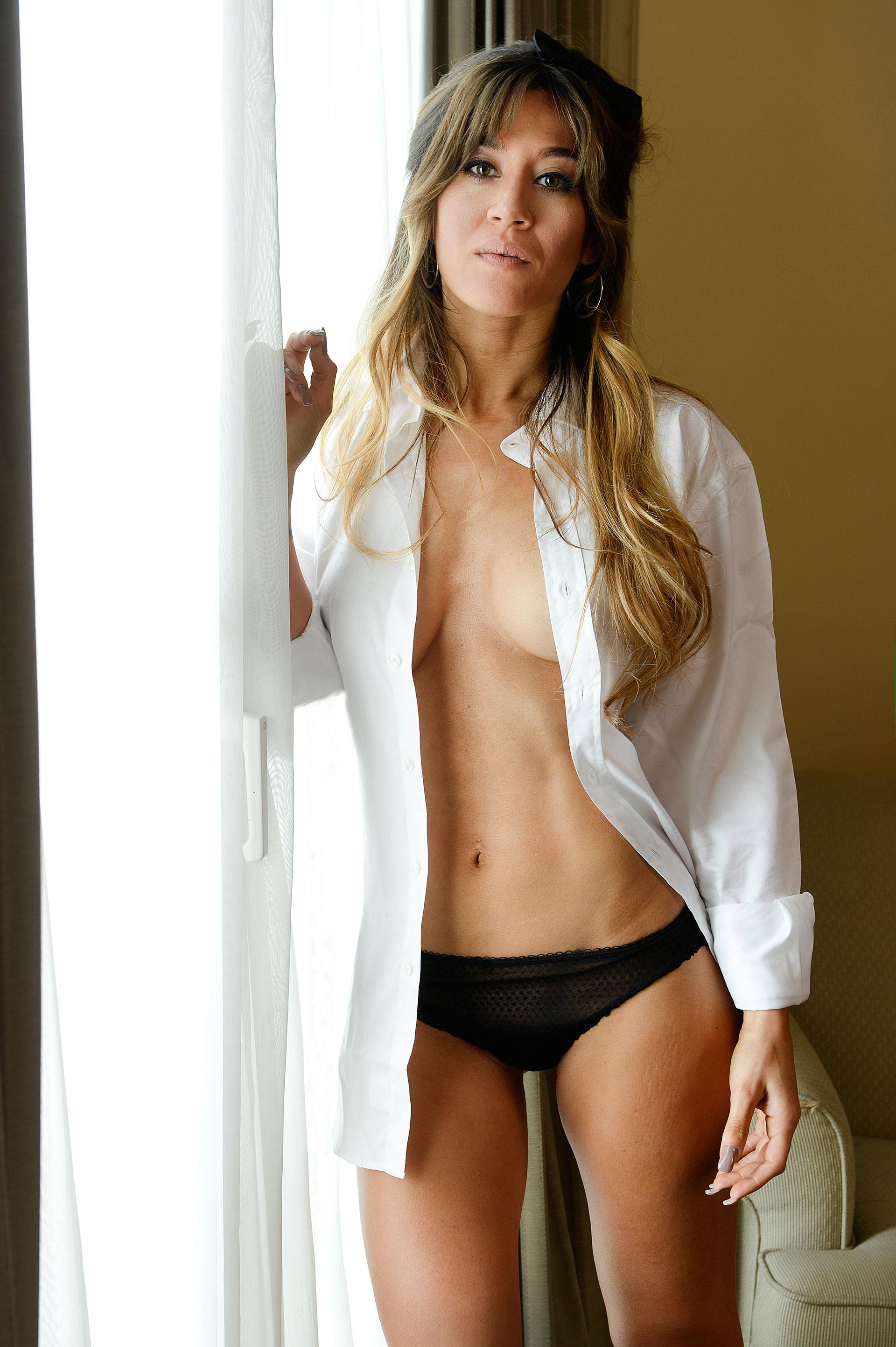 Flequillo y abdominales a lo Sarah Connor. Foto: Archivo Atlántida Televisa