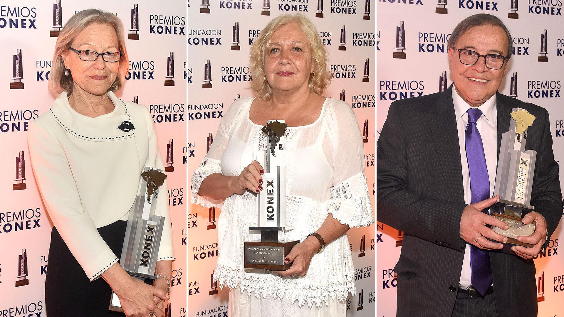 Dorrit Harazim, Mónica González Mujica y Jorge Traverso (Nicolás Stulberg)