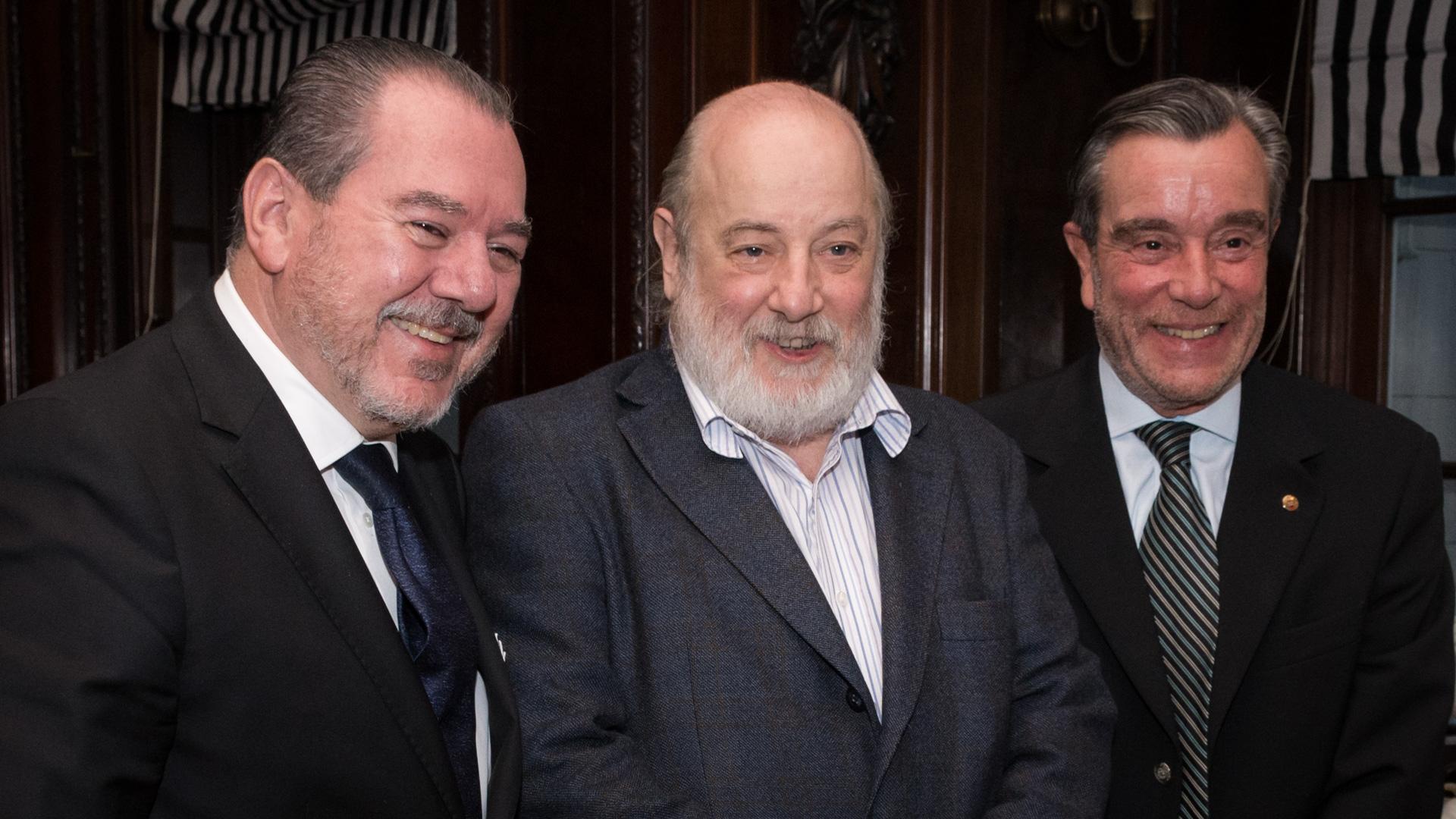 Mario Montoto, presidente de TAEDA y de la Cámara Argentino-Israelí, Claudio Bonadio, juez federal y Gustavo Corriz, director DEF (Martín Rosenzveig)