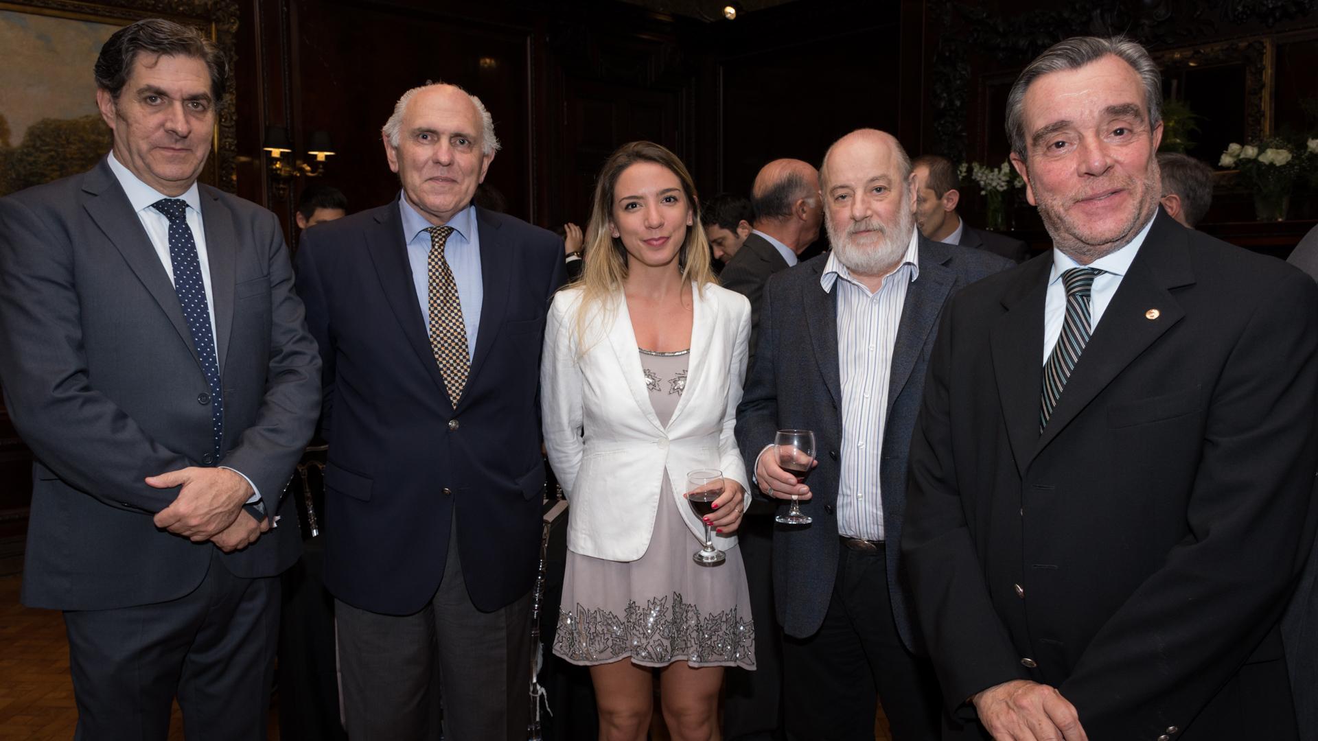 Juan Carlos Gemignani, Lucía Barreto directora Finint, Claudio Bonadio y Gustavo Gorriz