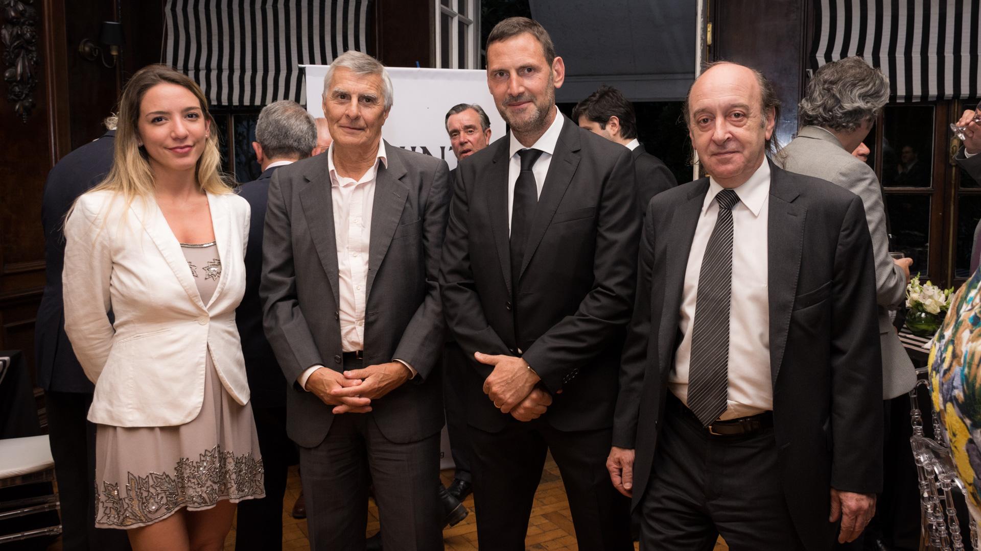 Lucía Barreto directora Finint, Pablo Videla ,director de Banco Ciudad y Juan Félix Marteau