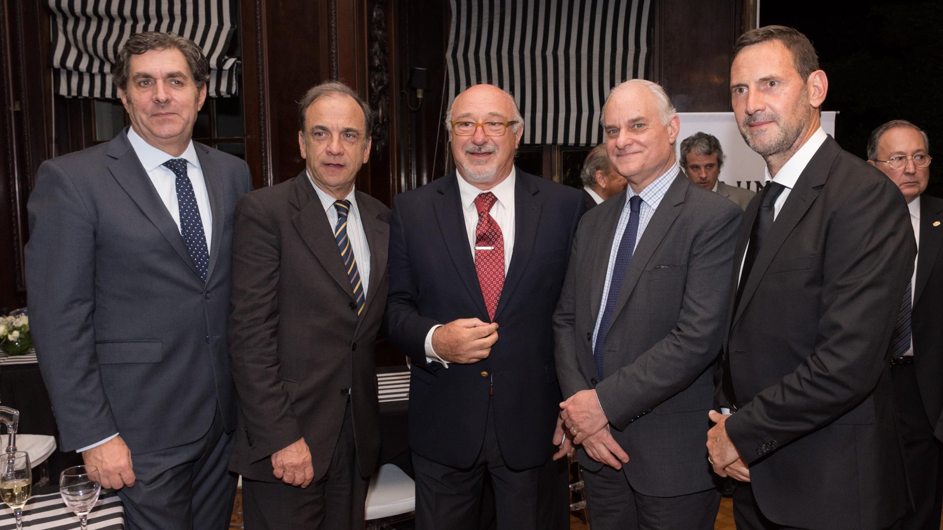 Juan Carlos Gemignani, juez de la Cámara Federal de Casación, Raúl Plee, Julio Federik, abogado penalista y Julio Ferrari Freyre ministro Representación Especial para asuntos de terrorismo