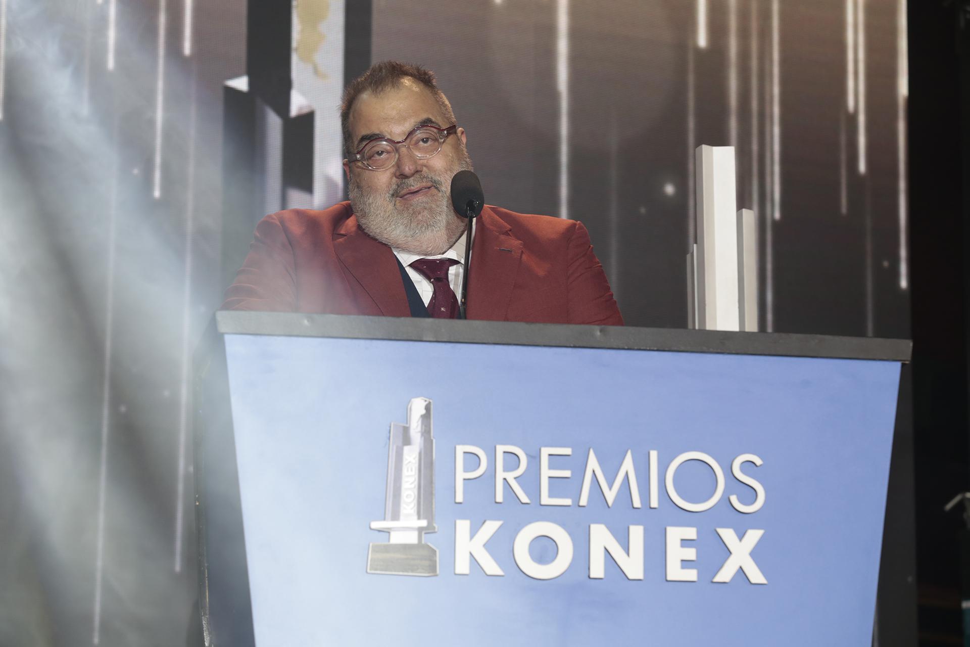 Jorge Lanata, ganador del Konex de Platino en la categoría Televisiva