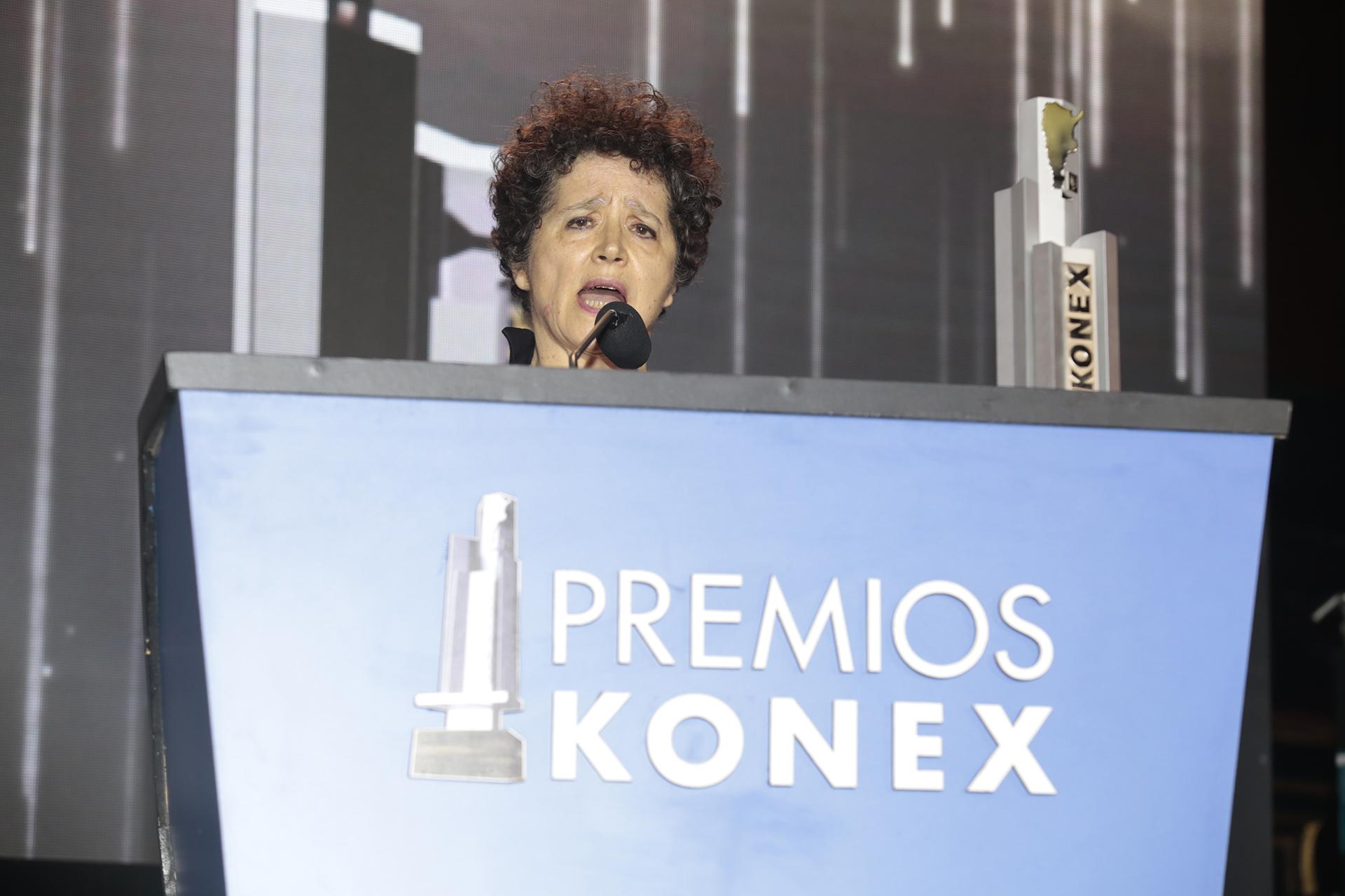 Victoria, la mujer de Pepe Eliaschev, lo recordó durante su discurso de agradecimiento