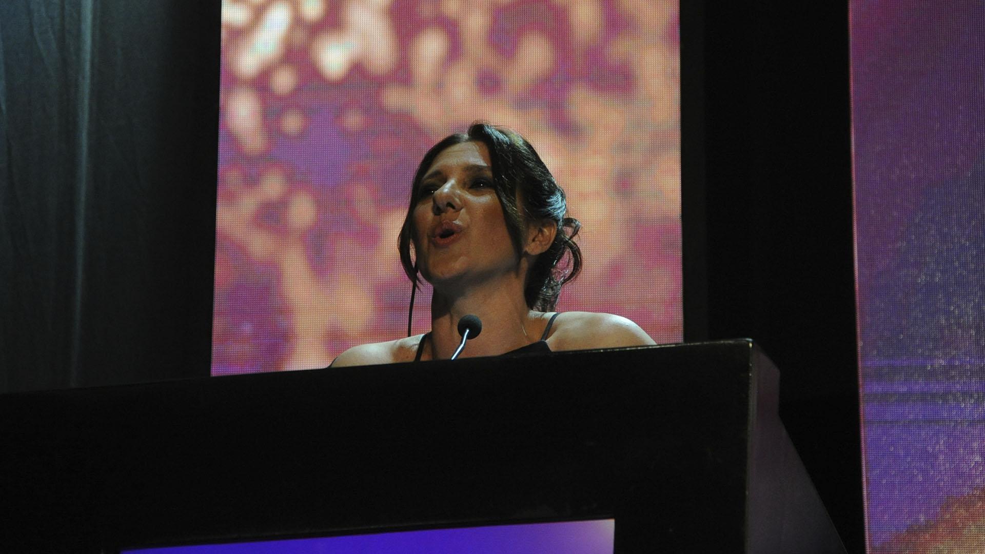Gabriela Radice, conductora de la ceremonis