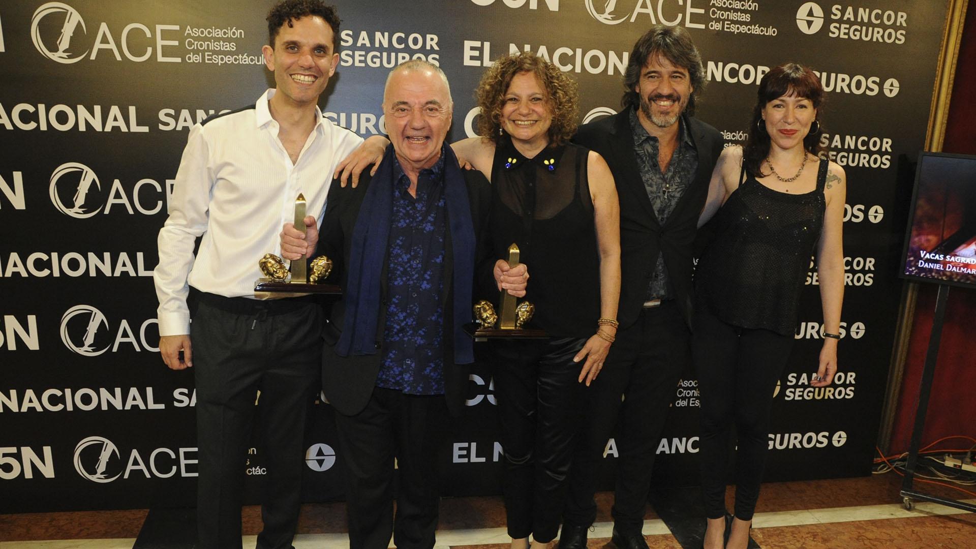 Santiago Doria, el ganador de la máxima estatuila de los ACE
