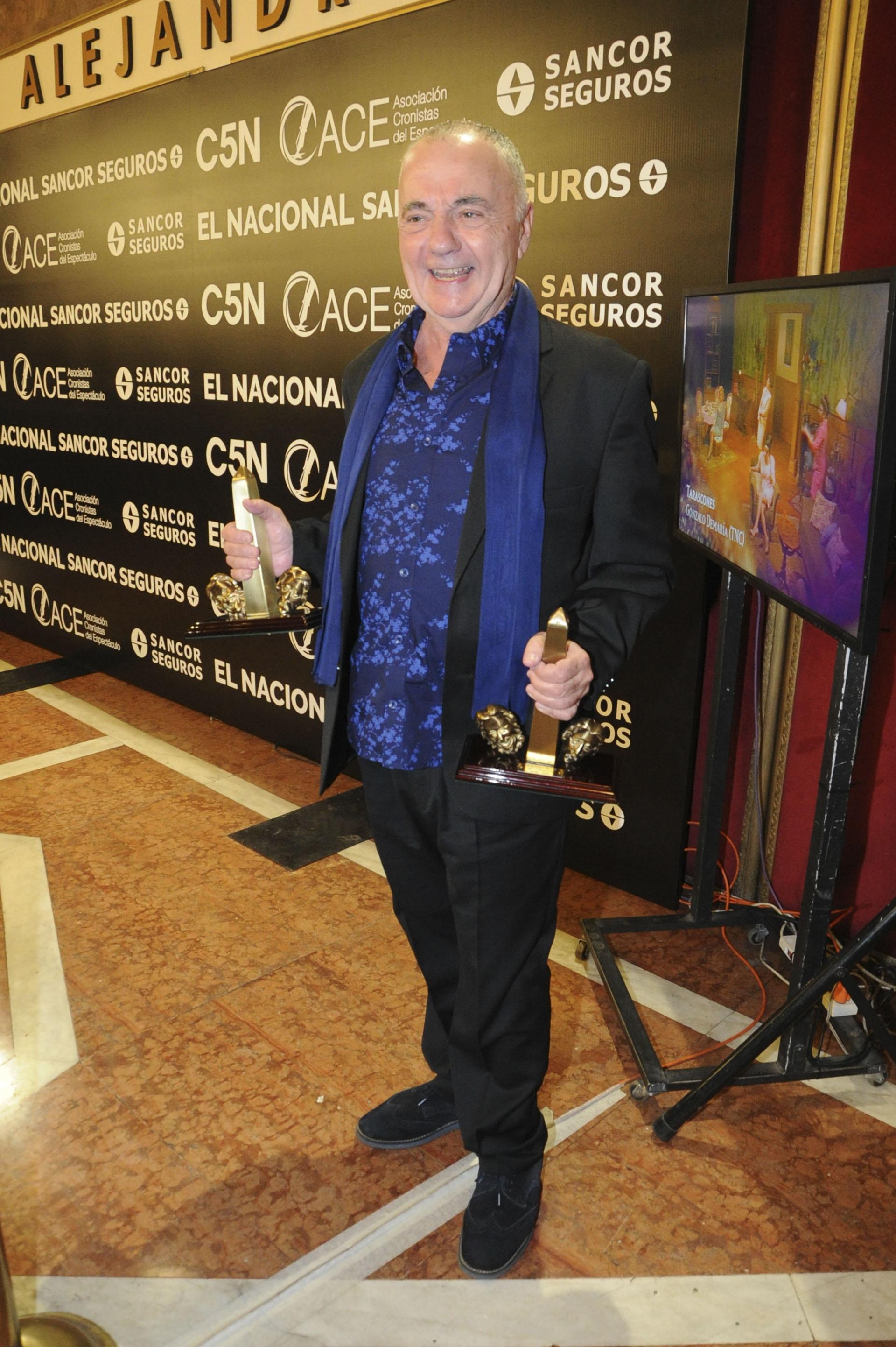 """El ACE de Oro fue para Santiago Doria, director de """"La discreta enamorada"""", obra que además se llevó el premio a Mejor Espectáculo de Teatro Alternativo"""