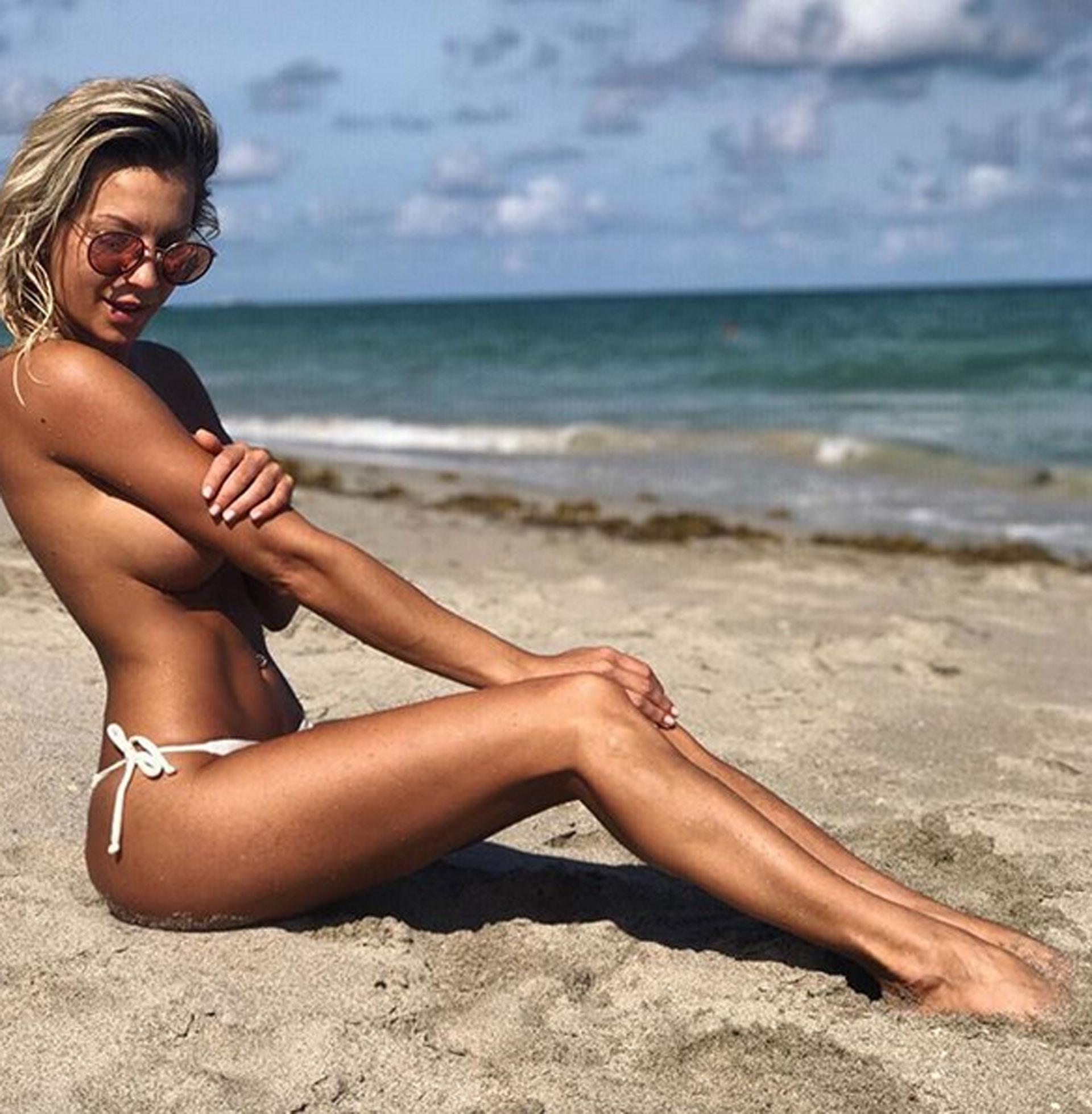 Noelia Marzol se fue de vacaciones a los Estados Unidos con su novio Marcos Baldovino. Aprovechó para tomar sol y se sacó una foto súper hot en topless. ¡Una diosa!