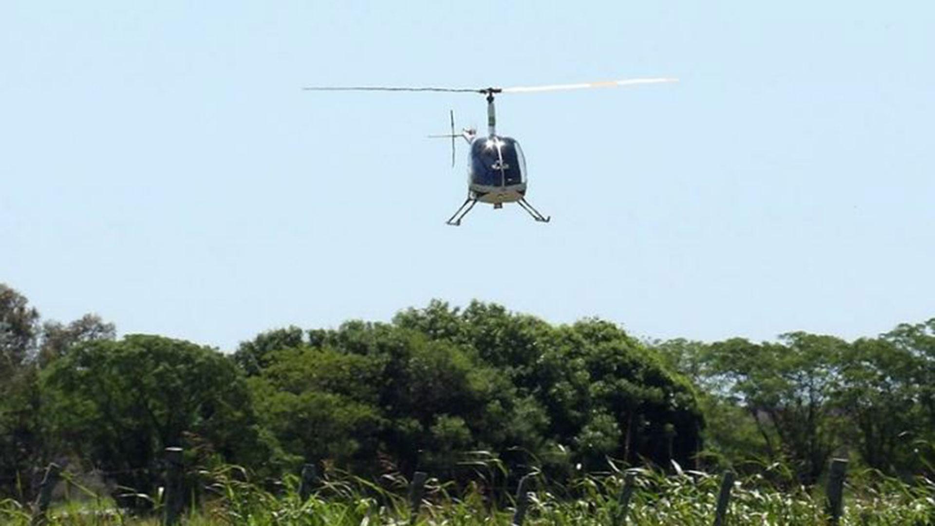 La búsqueda también fue desde el aire (Gualeguay21)