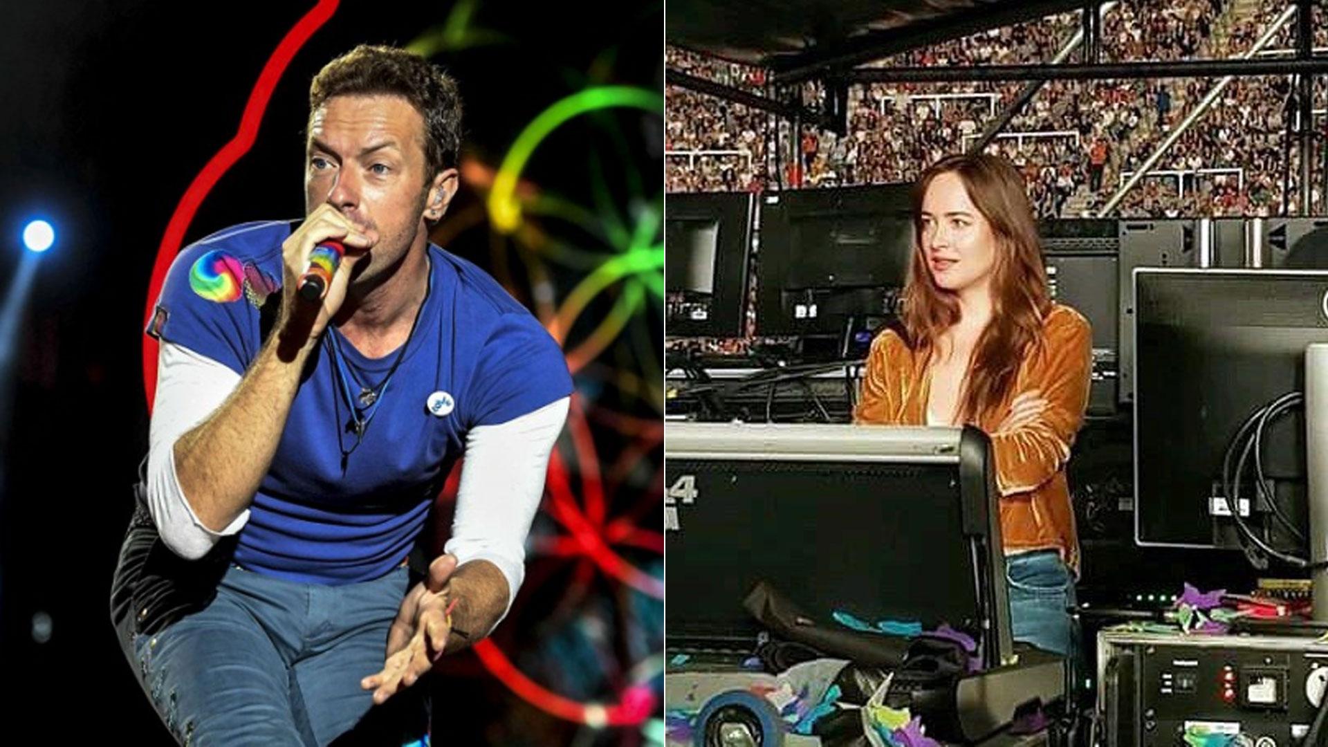 Chris Martin, líder de Coldplay, brindó dos shows en el Estadio Único de La Plata. La actriz Dakota Johnson disfrutó del recital y no pasó inadvertida… ¡Hay amor!