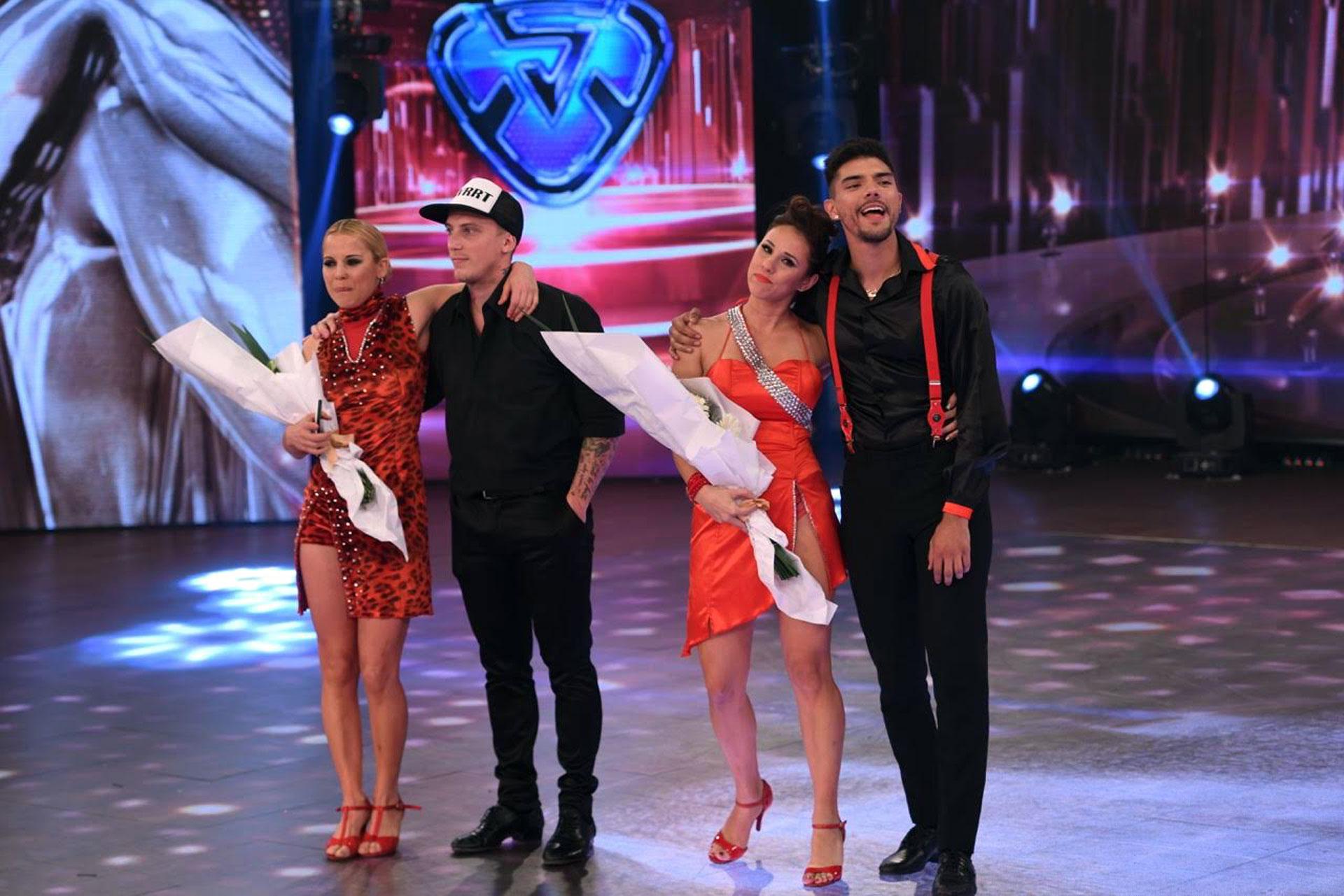 """En el """"Bailando"""", Consuelo Peppino eliminó a Tyago Griffo y El Polaco. La participante se impuso por decisión del público por el 44.09% de los votos telefónicos"""