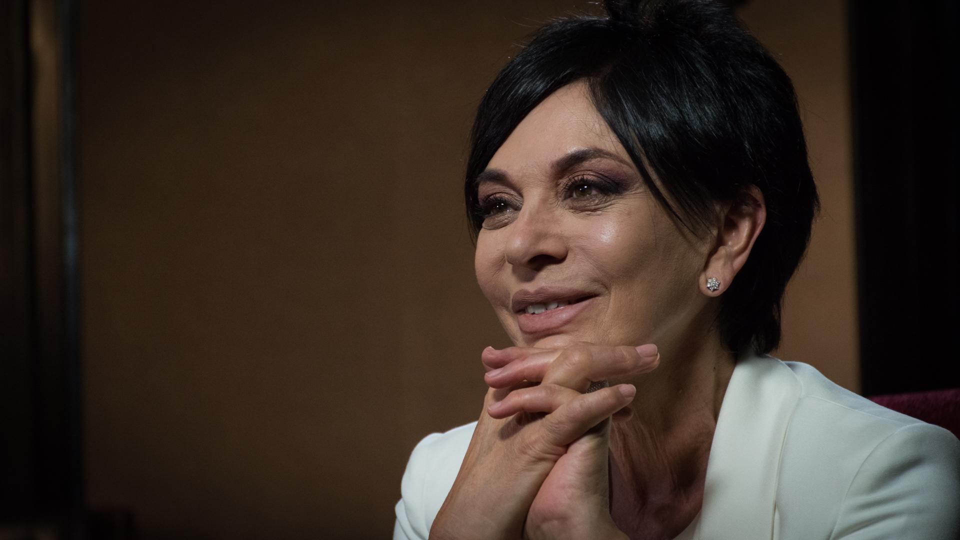 la periodista y conductora de América Noticias, Mónica Gutiérrez (Martín Rosenzveig)