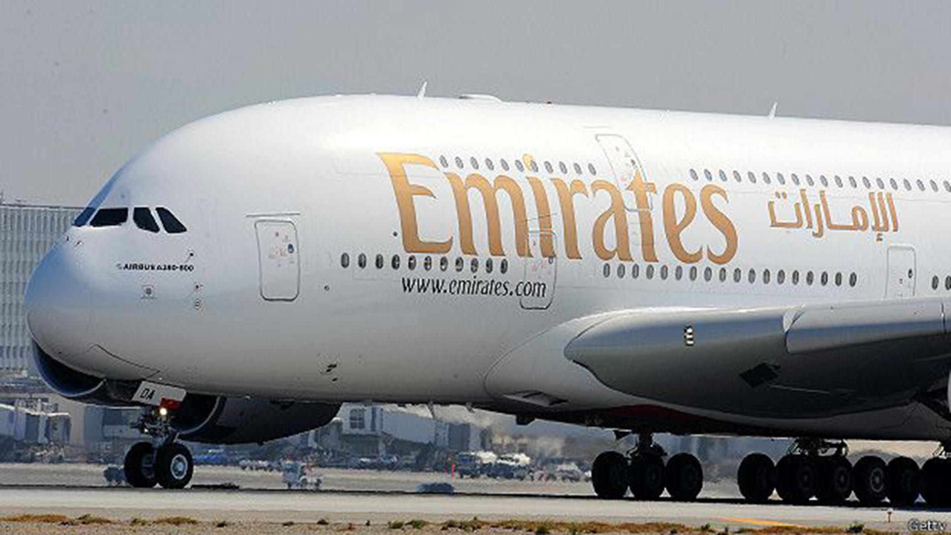 Un Airbus A380 de Emirates