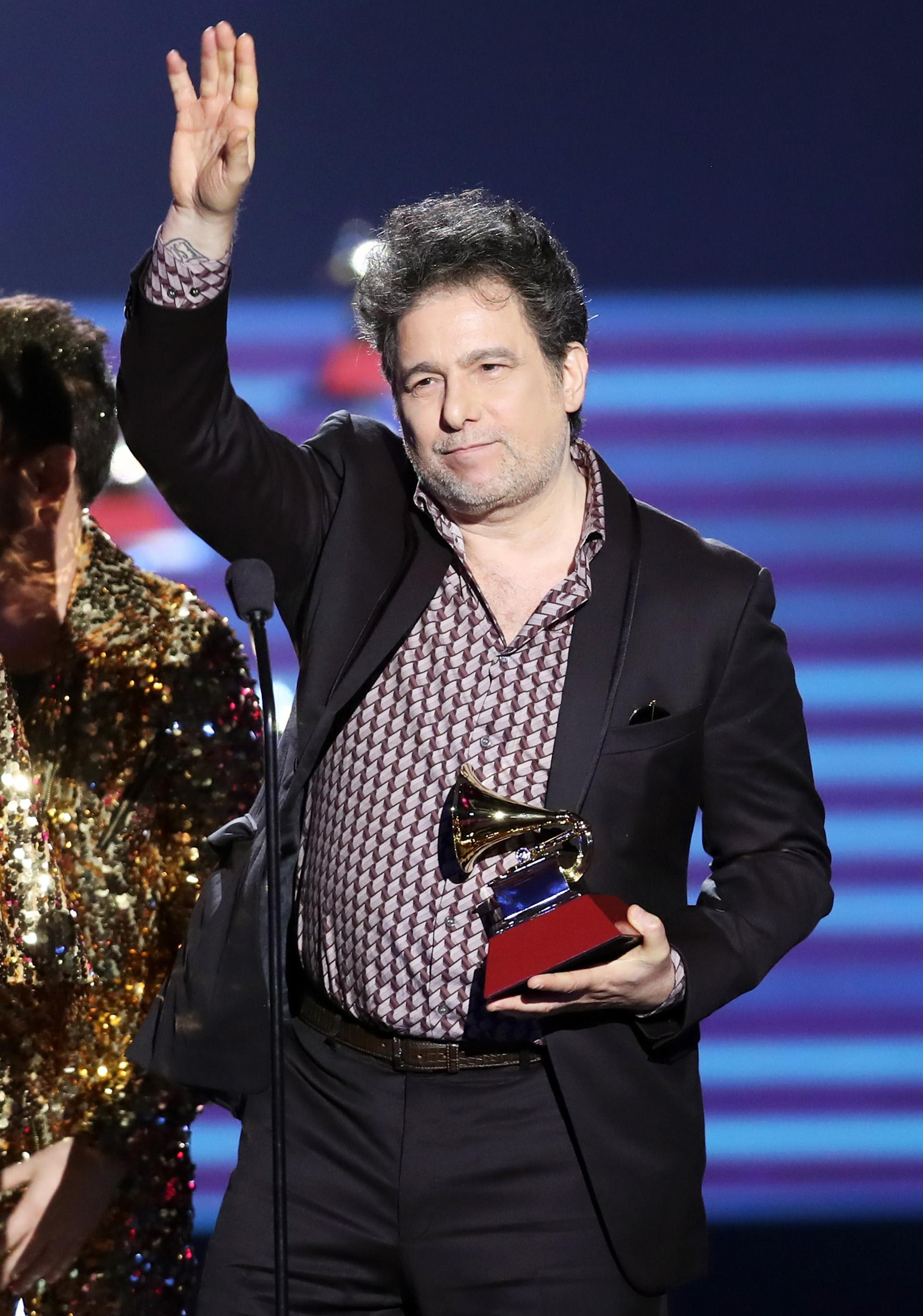 """Andrés Calamaro fue distinguido en la categoría Mejor Canción por """"La Noche"""" (Rich Polk/Getty Images)"""