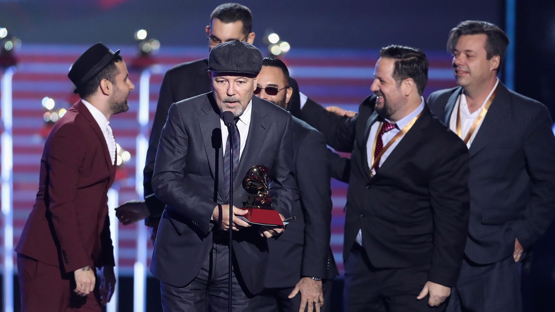 """Rubén Blades fue distinguido en el rubro Álbum del Año por """"Salsa Big Band"""" Rich Polk/Getty Images)"""
