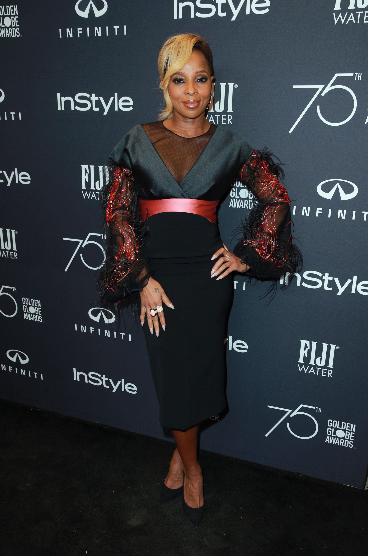Mary J. Blige y una combinación de colores que no pasó desapercibida