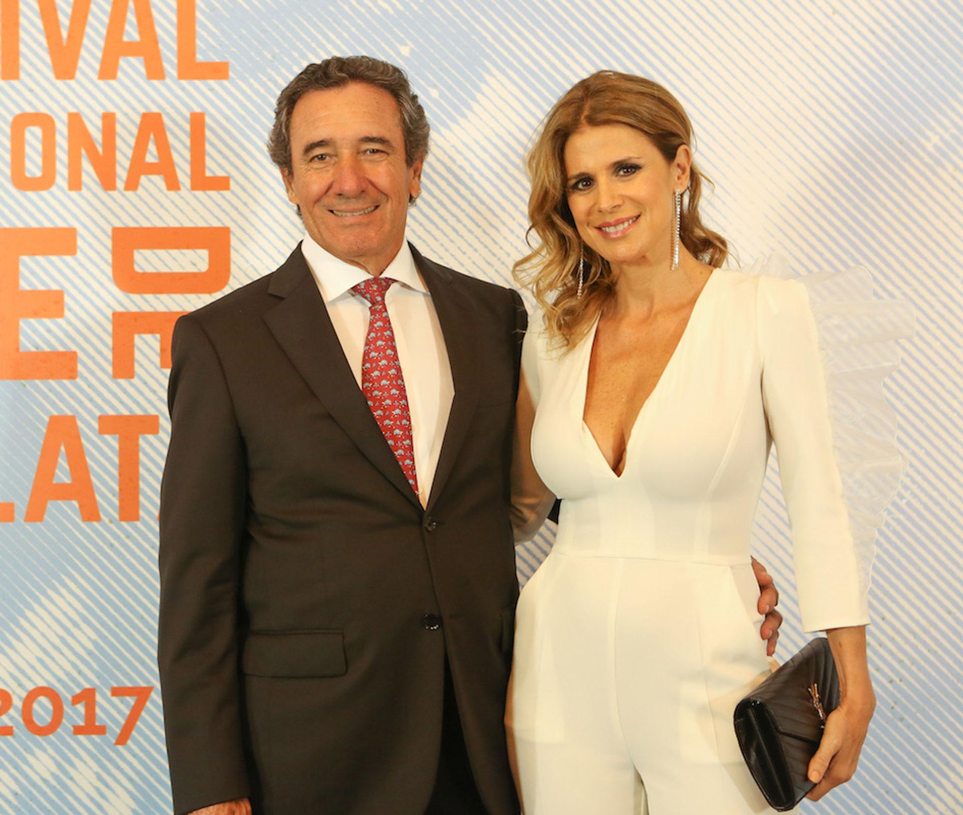 Flavia Palmiero con su pareja, el productor Luis Alberto Scalella