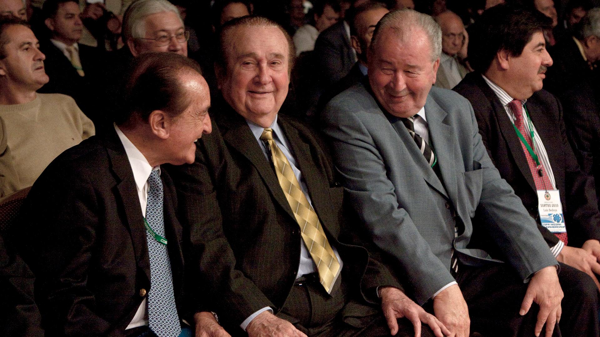 Figueredo junto a Nicolás Leoz y Julio Humberto Grondona (Getty)