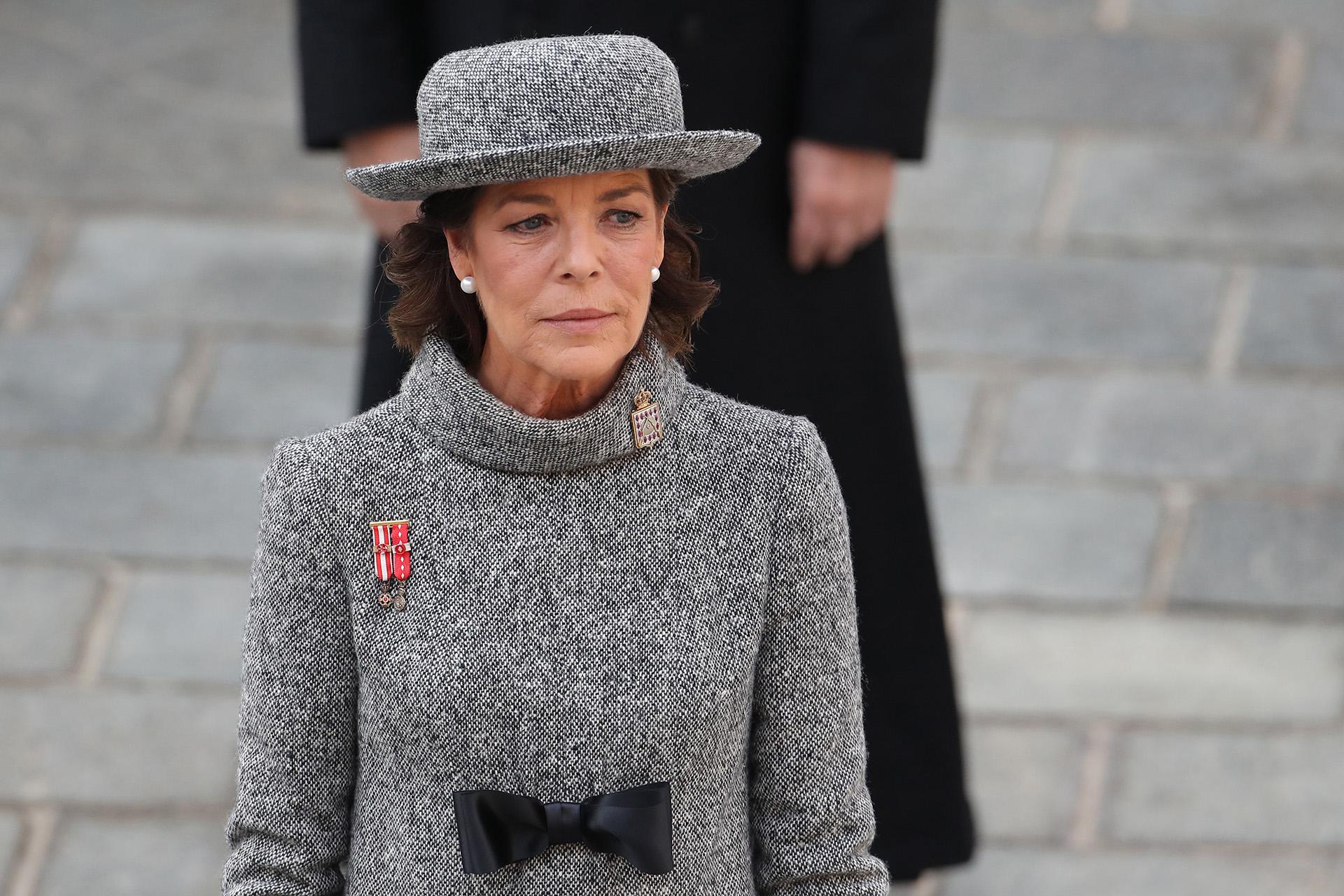 Carolina de Mónaco acompañó a su hermano y, una vez más, dio una clase magistral de glamour y estilo