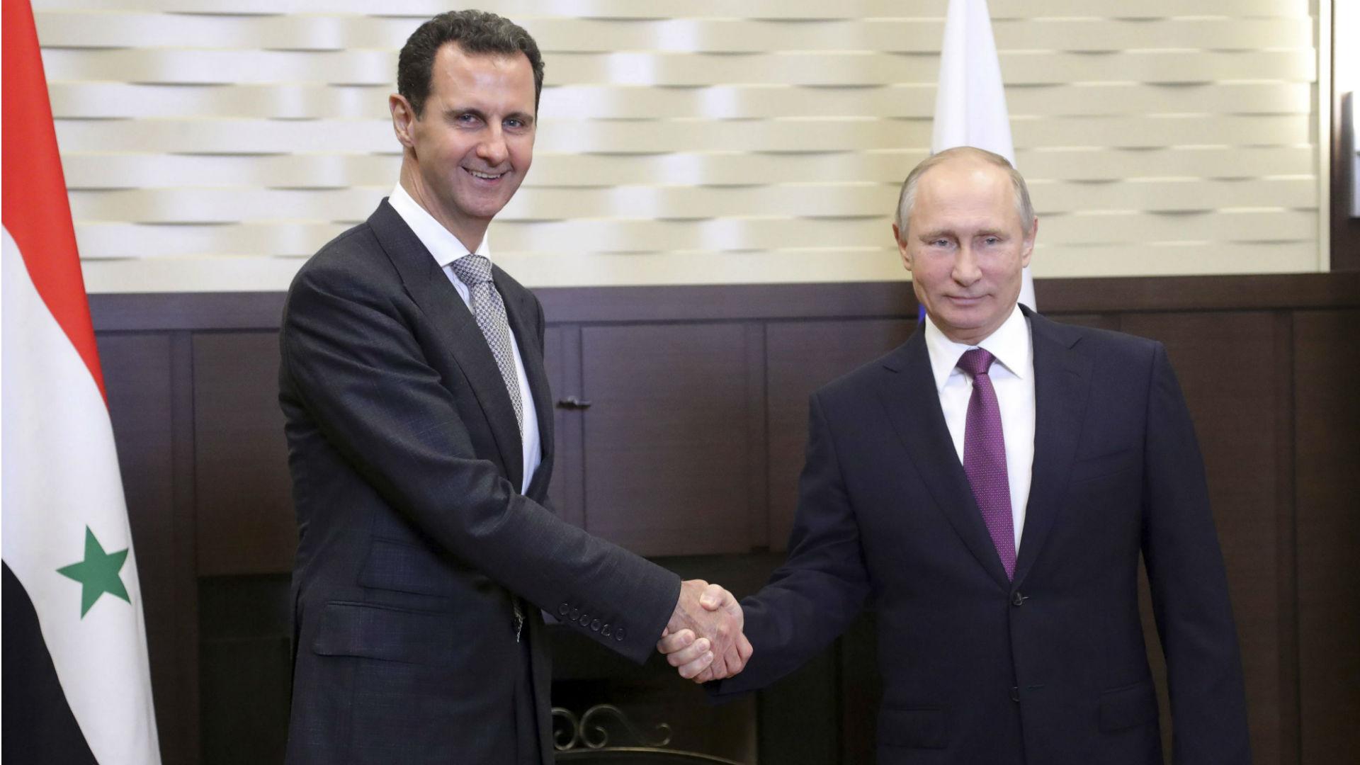 Al Assad y Putin duranteun encuentro en Sochi (Reuters)