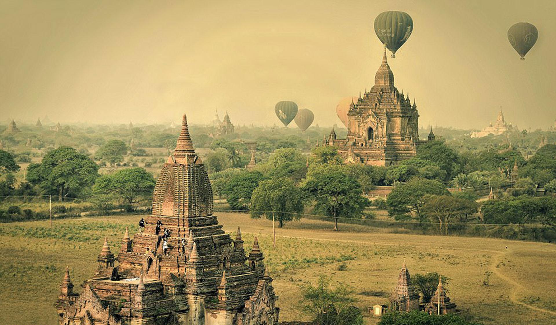Los templos de Bagan por Ana Caroline de Lima, en Birmania.