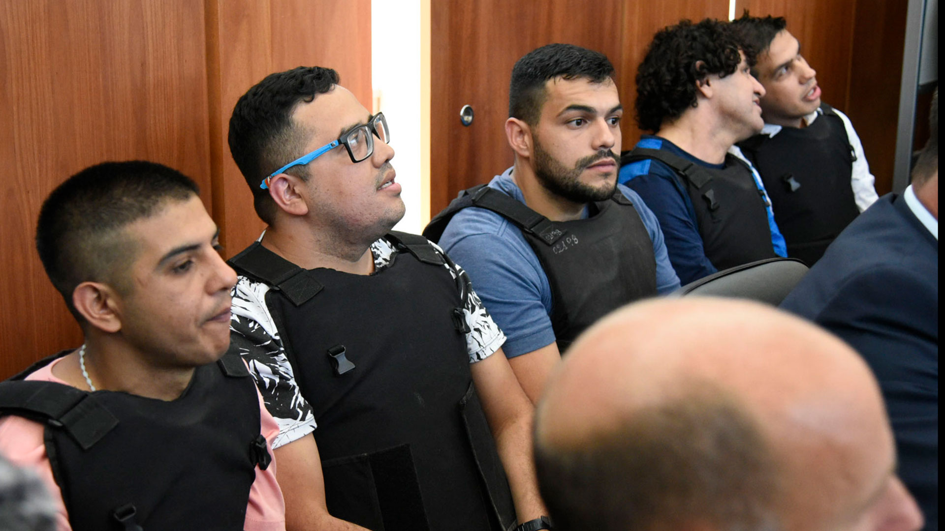 Postal del juicio oral a Los Monos. El martes que viene se reanudan las audiencias. (NA)