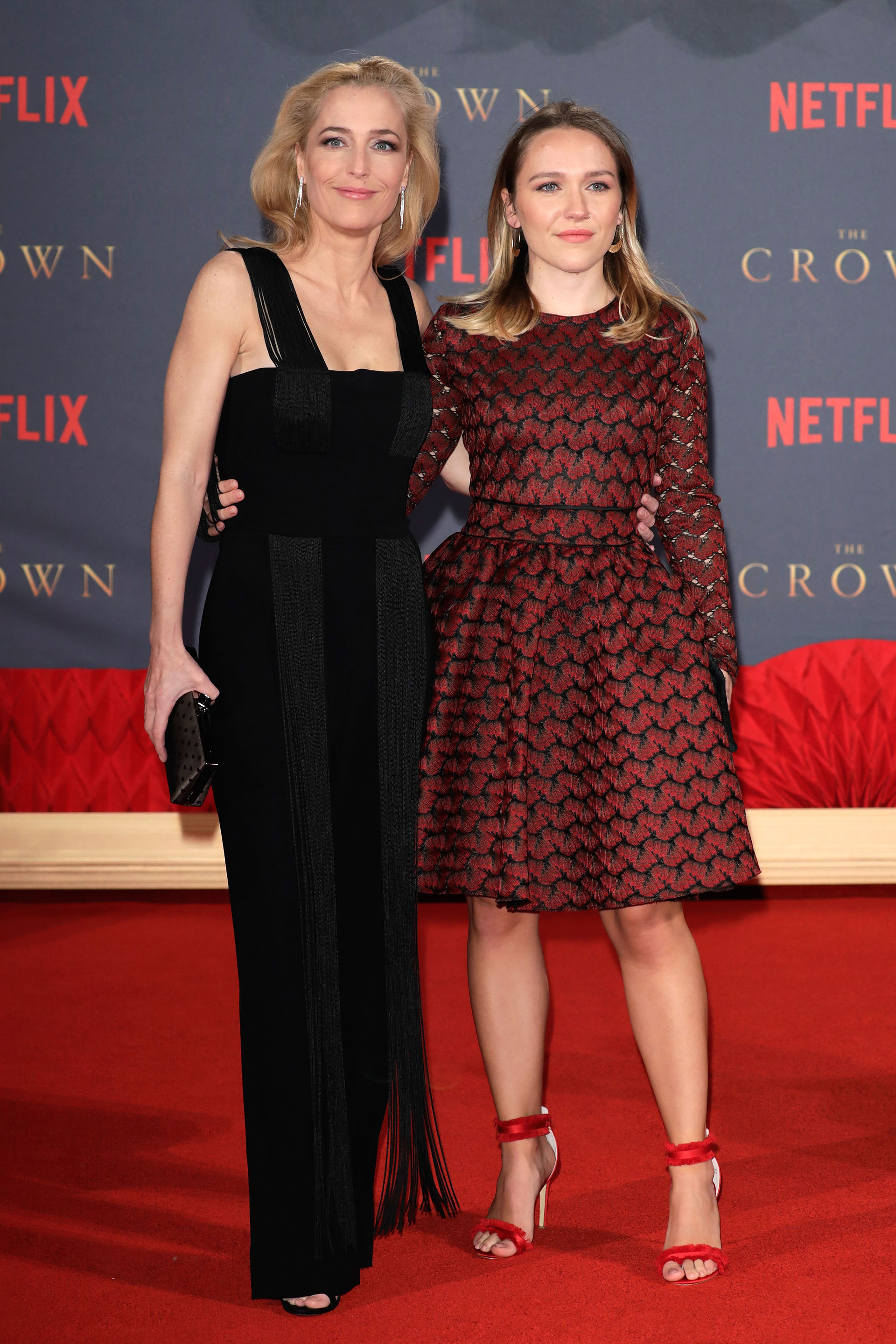 Gillian Anderson y su hija Piper Maru Klotz