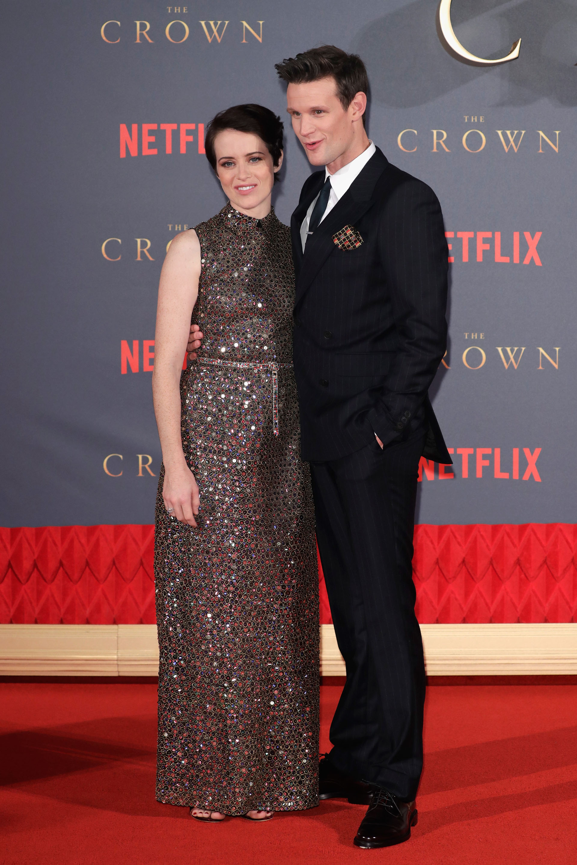 Claire Foy y Matt Smith: la reina y su marido en The Crown