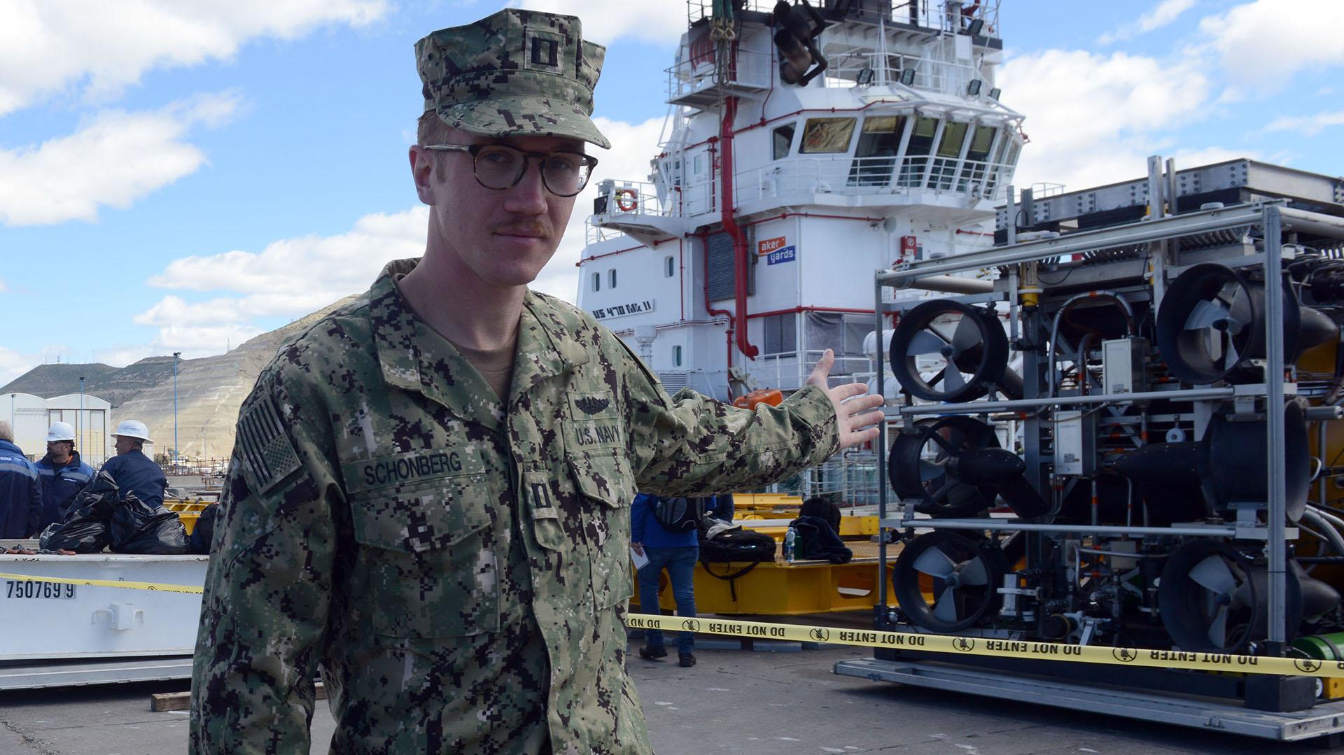 Kurt Schomberg, portavoz de la marina estadounidense (Walter Calderon)