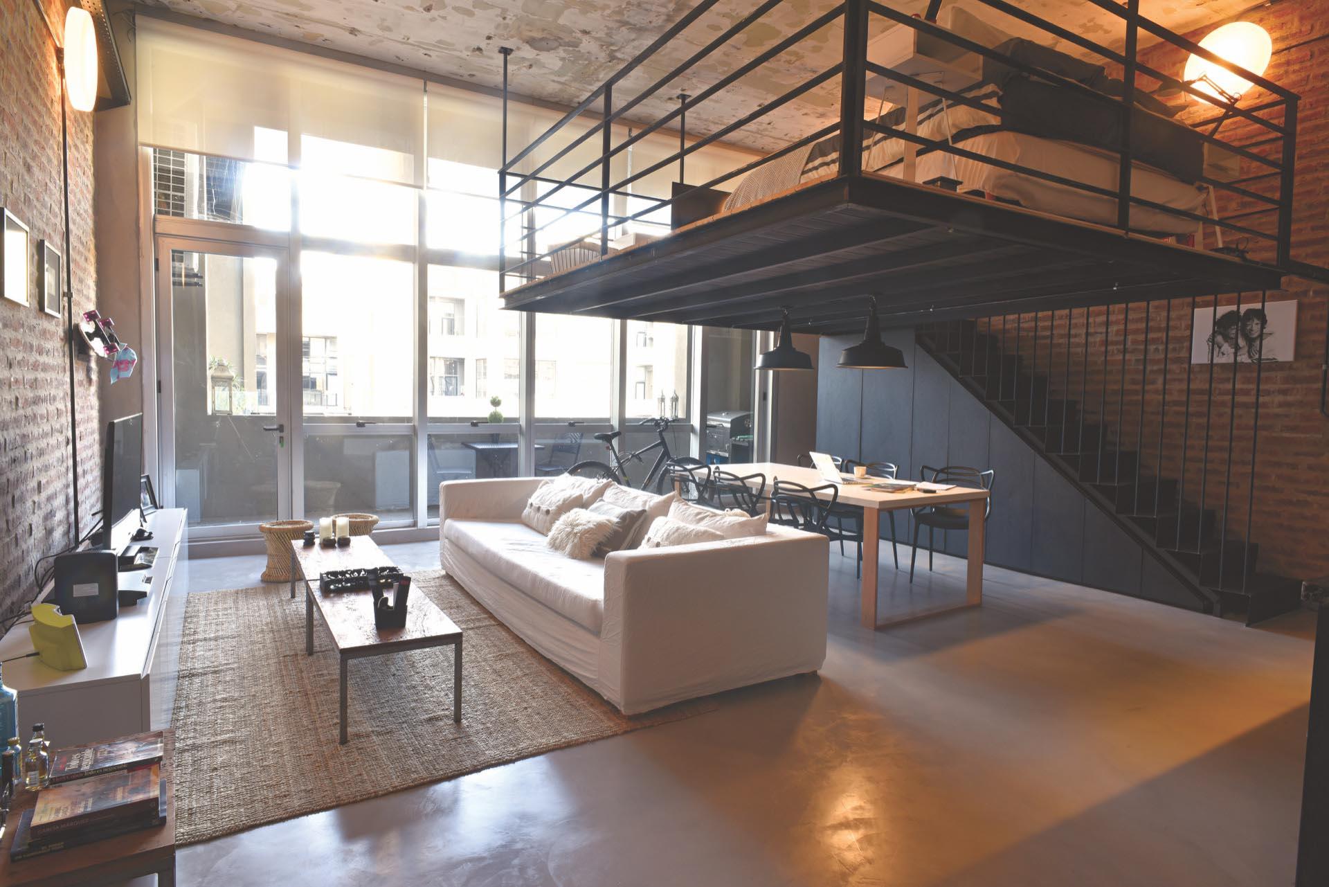 Un departamento de un planta convertido en un loft estilo for Diseno estilo industrial