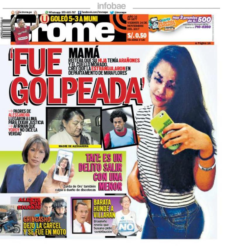 Trome Perú Viernes 24 De Noviembre De 2017 Junín Al Minuto