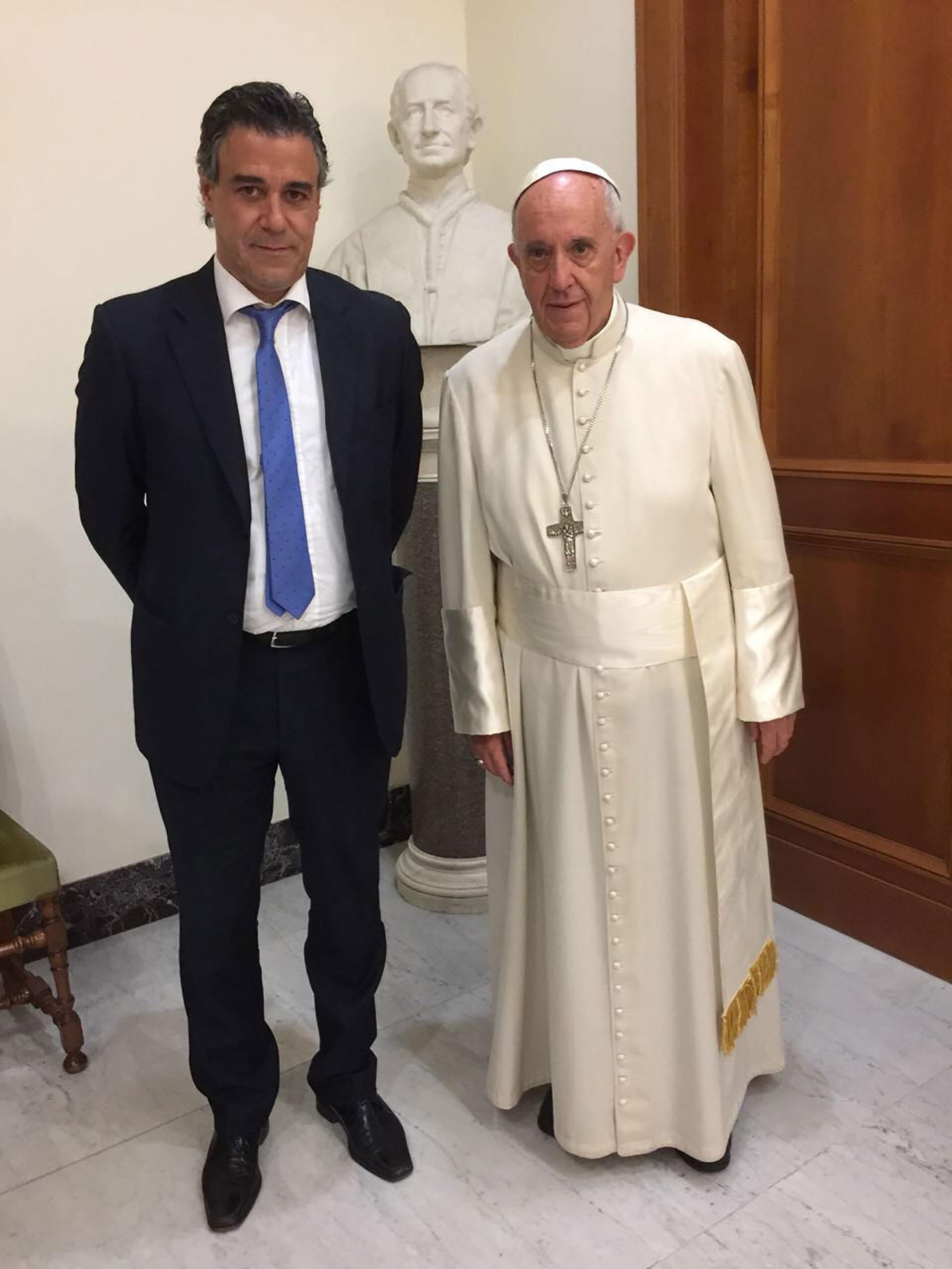 Noviembre de 2016. Francisco con el juez federal Daniel Rafecas