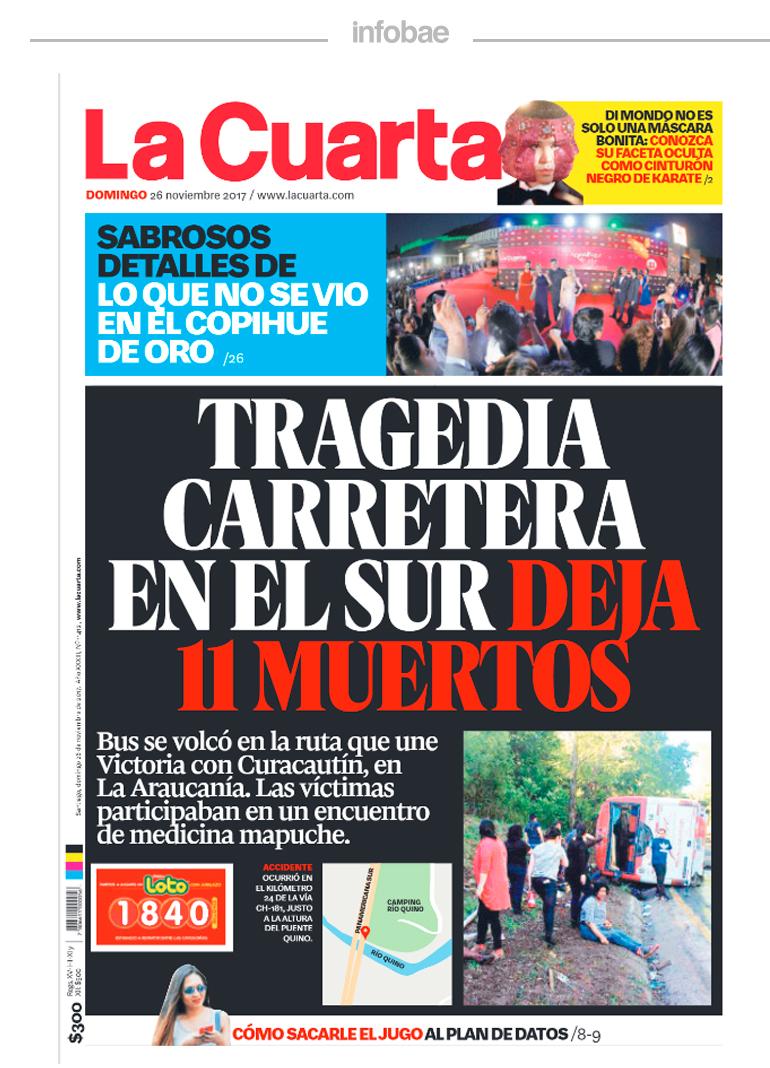 La cuarta, Chile , 26 de noviembre de 2017 | ADN Mercedes