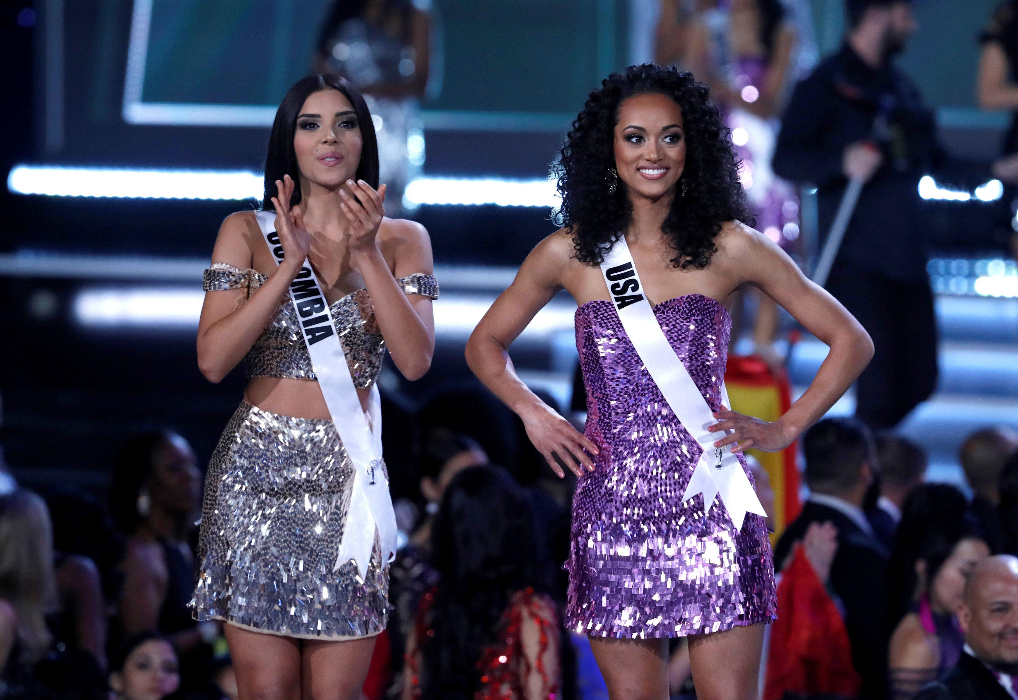 Miss Colombia, Laura González, y Miss EEUU, Kara McCullough (Reuters/Steve Marcus)