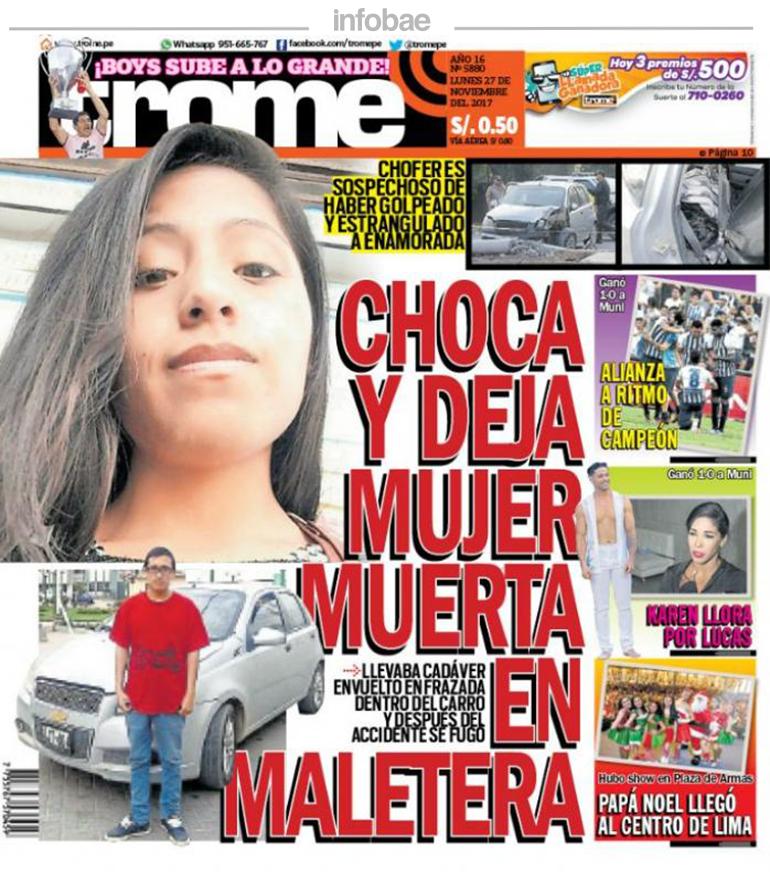 Trome Perú Lunes 27 De Noviembre De 2017 Noticias De Catamarca